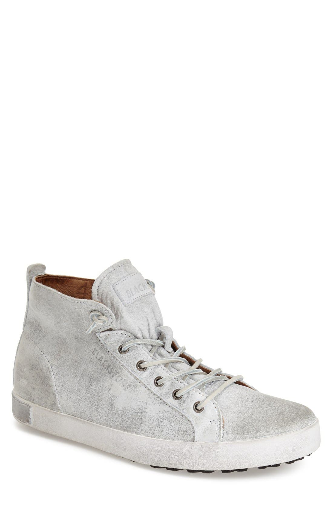 'JM 02' High Top Sneaker,                             Main thumbnail 1, color,                             White Leather