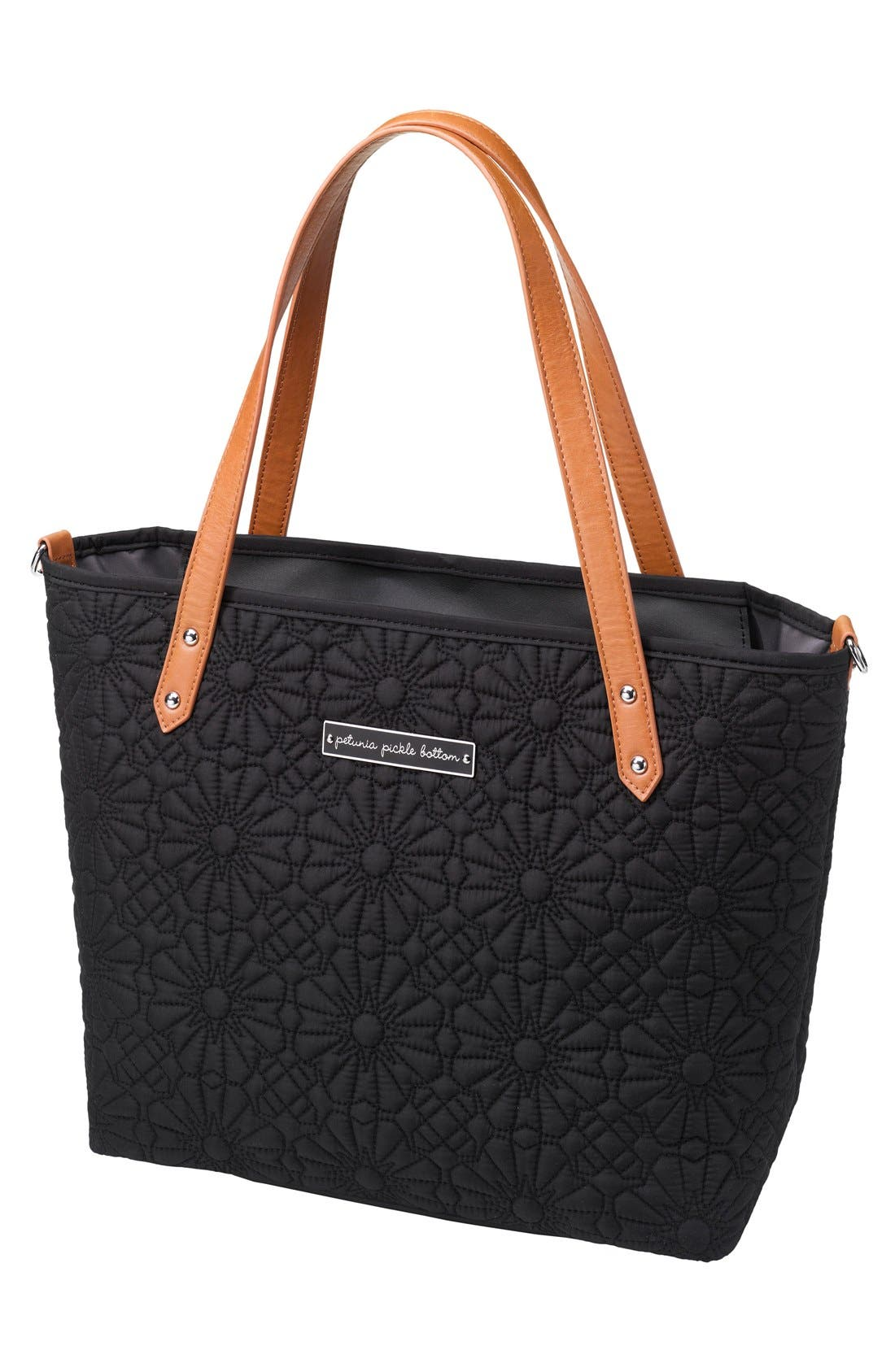 'Downtown Mini' Floral Embossed Diaper Tote,                             Main thumbnail 1, color,                             Bedford Avenue