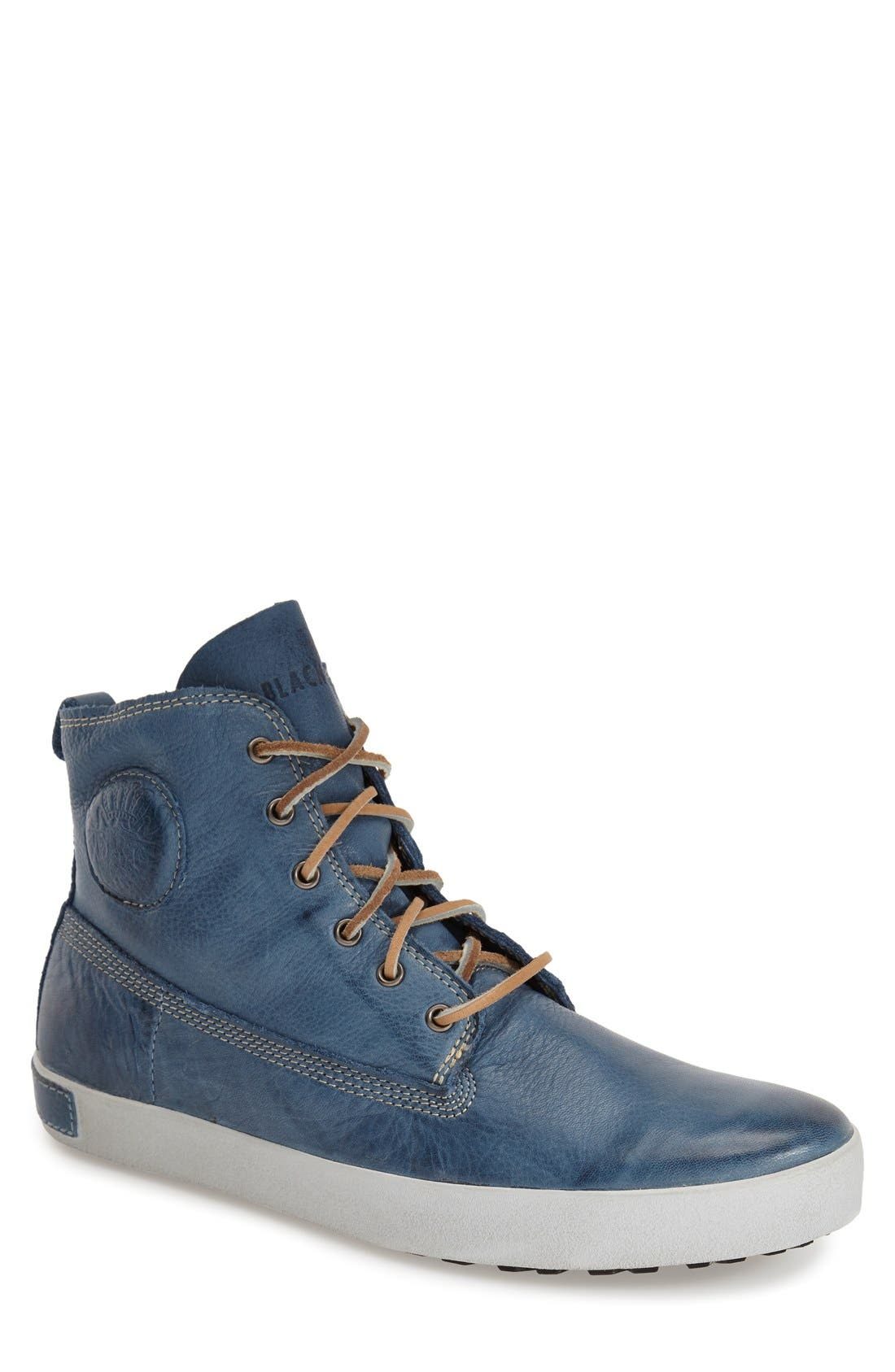 'JM04' Sneaker,                         Main,                         color, Light Indigo Leather