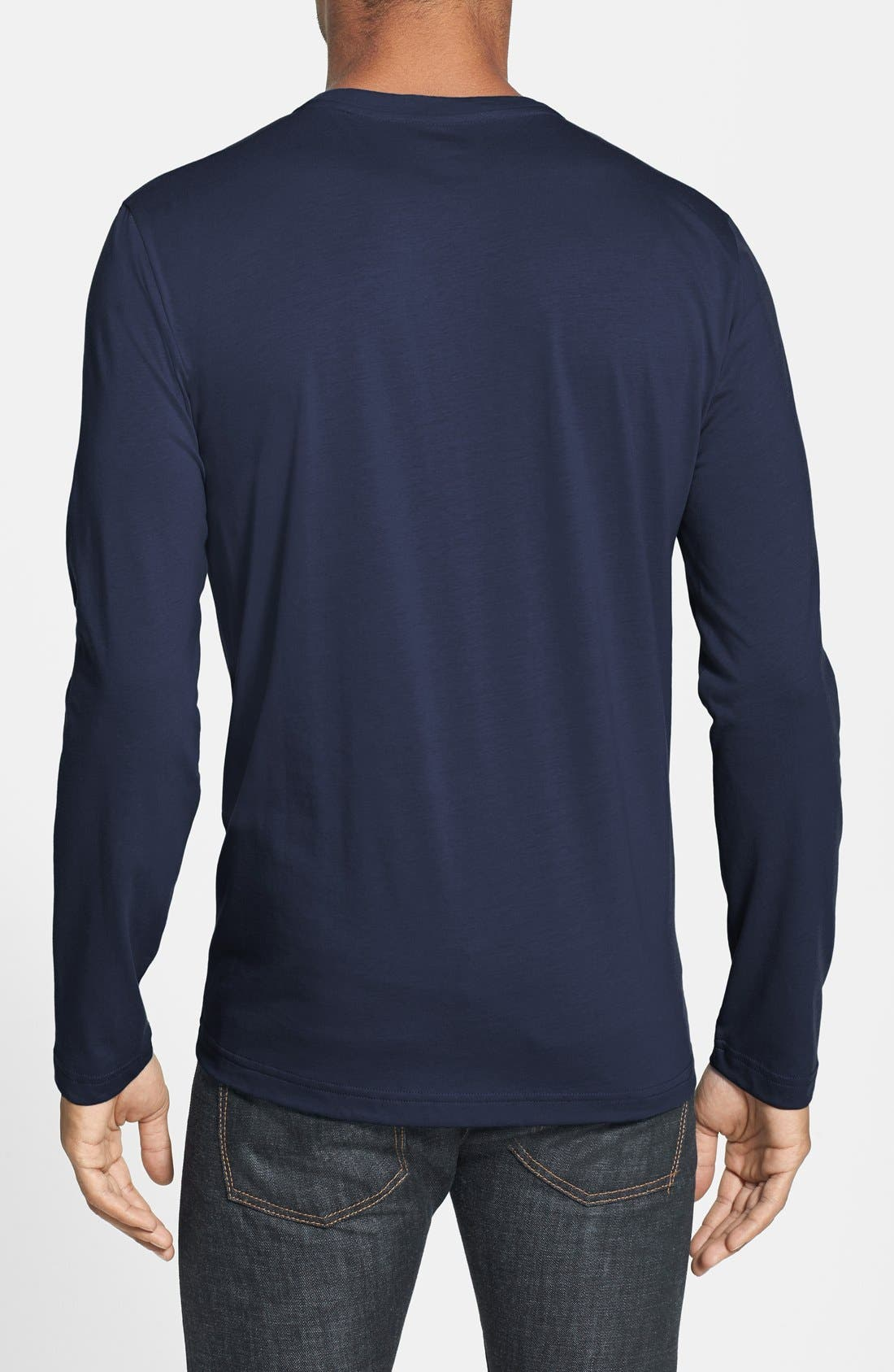 Alternate Image 2  - Lacoste Long Sleeve Pima Cotton T-Shirt
