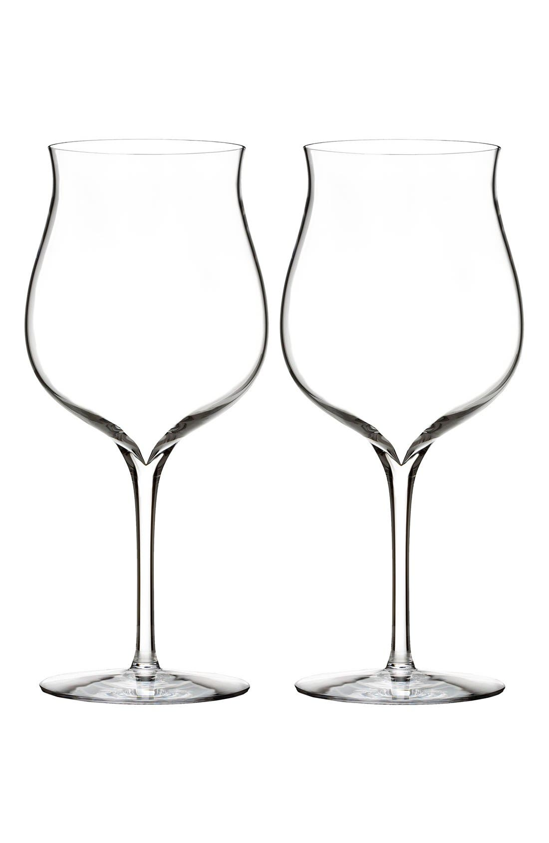 waterford elegance set of 2 fine crystal burgundy wine glasses - Waterford Crystal Wine Glasses