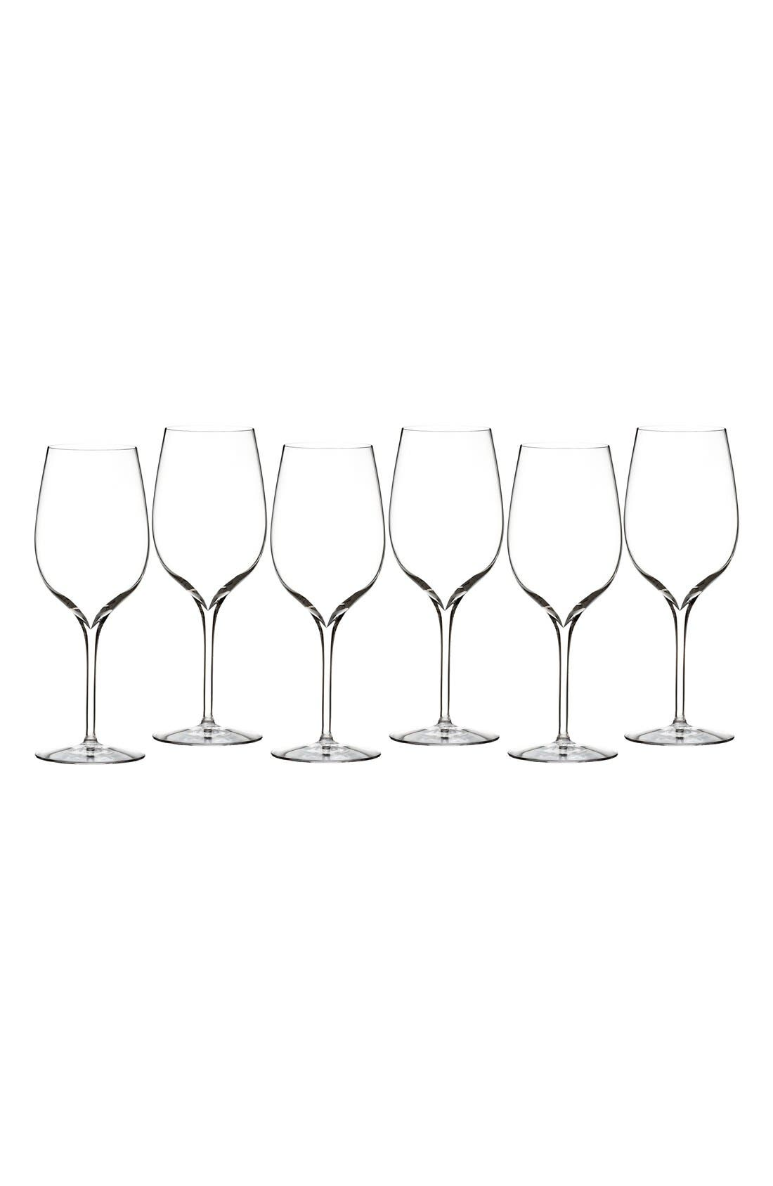 Waterford Elegance Set of 6 Fine Crystal Wine Glasses