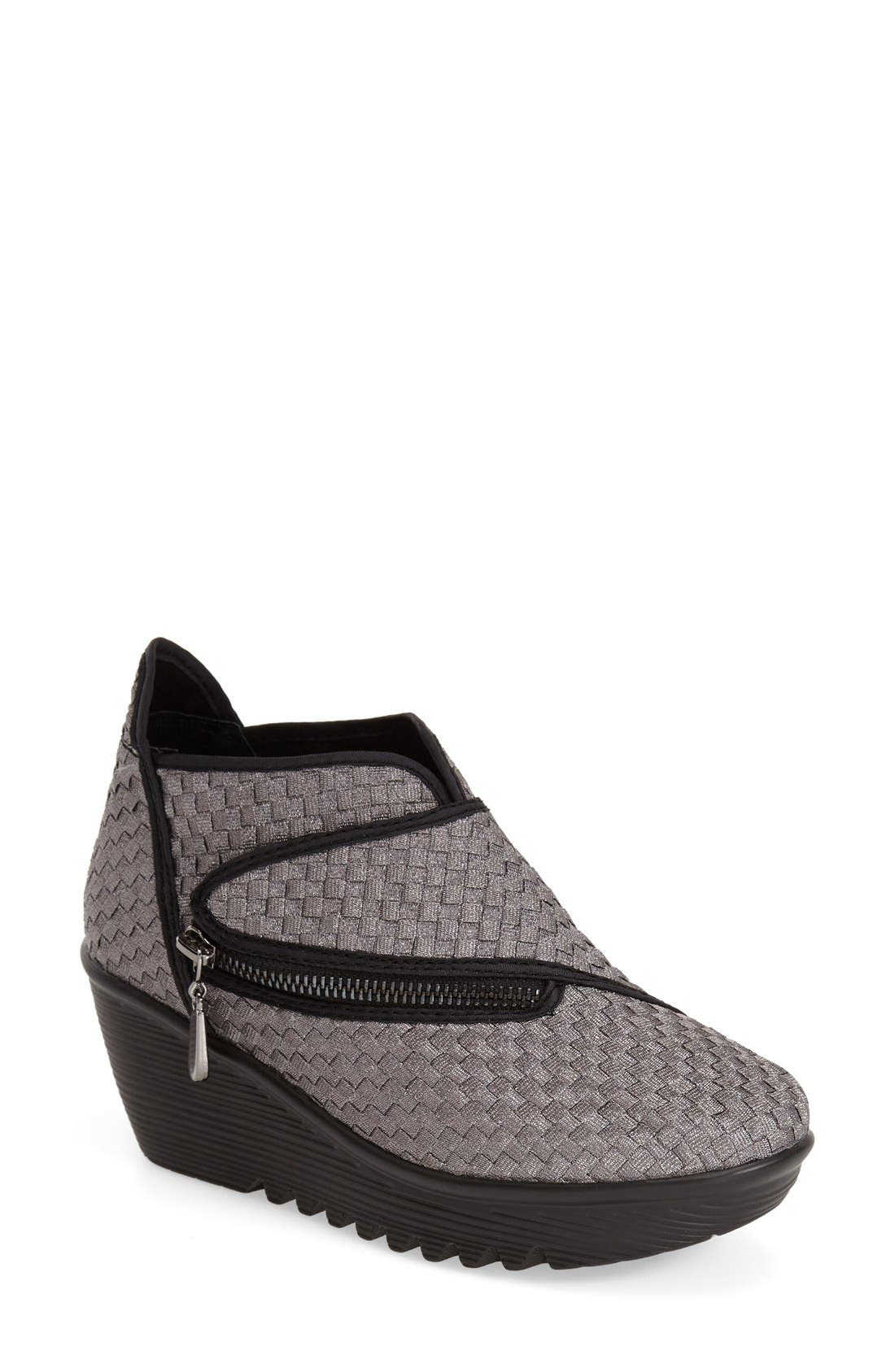 'ZigZag' Wedge Bootie,                             Main thumbnail 1, color,                             Gunmetal