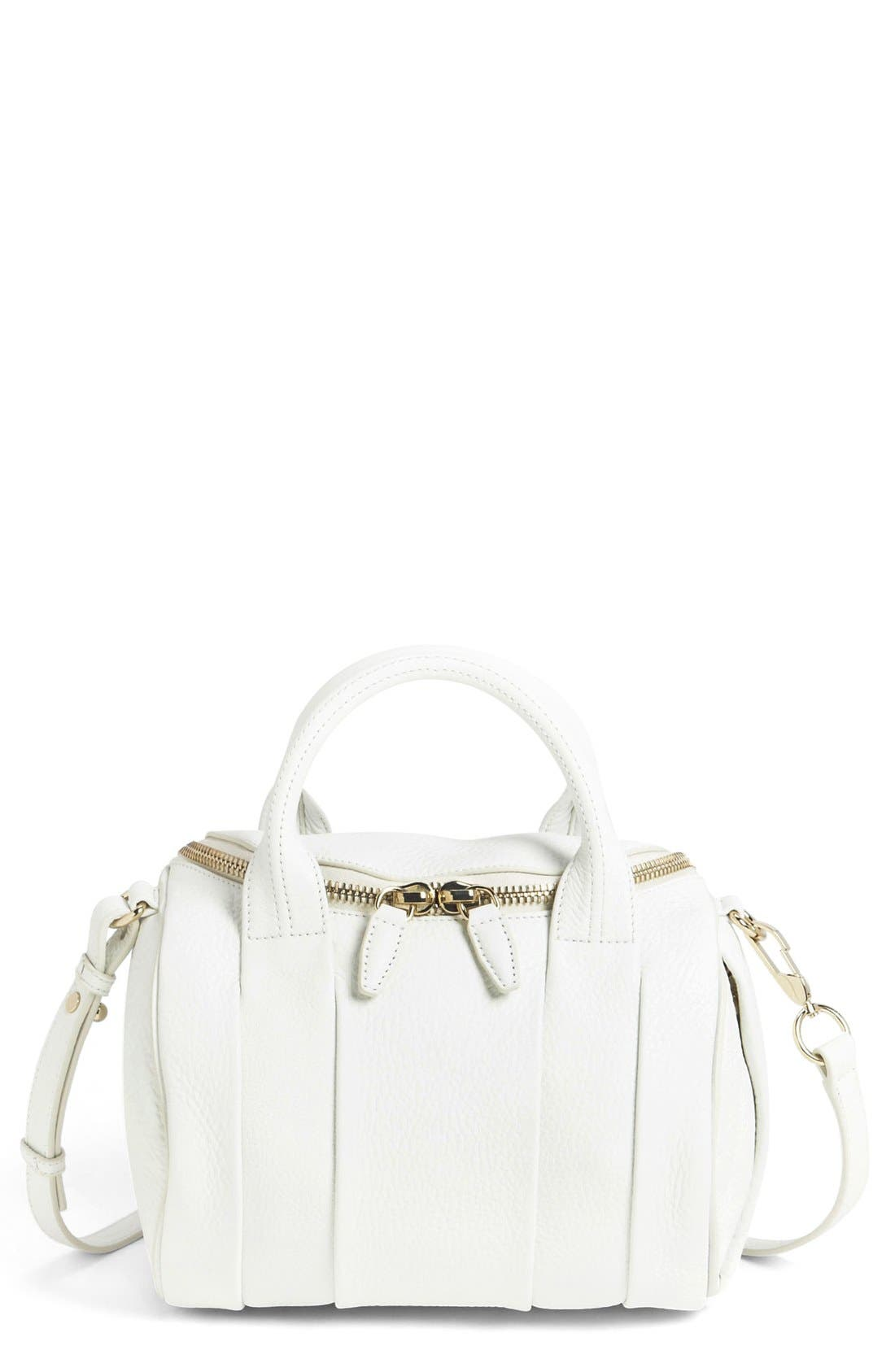 Alternate Image 1 Selected - Alexander Wang 'Rockie - Pale Gold' Leather Crossbody Satchel
