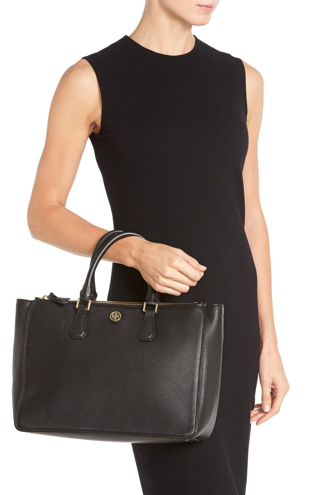 Alternate Image 2  - Tory Burch 'Robinson' Pebbled Leather Double Zip Tote