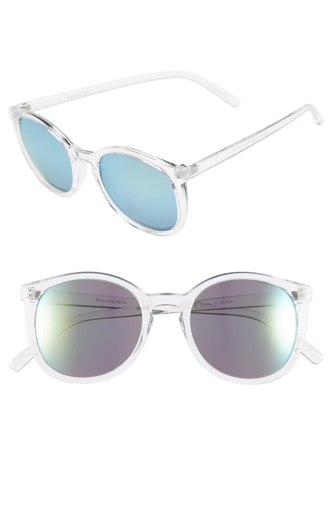 Main Image - BP. 52mm Mirrored Cat Eye Sunglasses