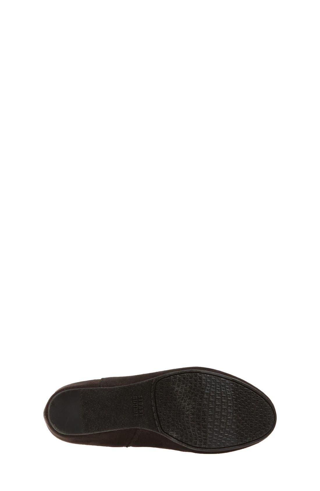'Iselle' Bow Boot,                             Alternate thumbnail 4, color,                             Black