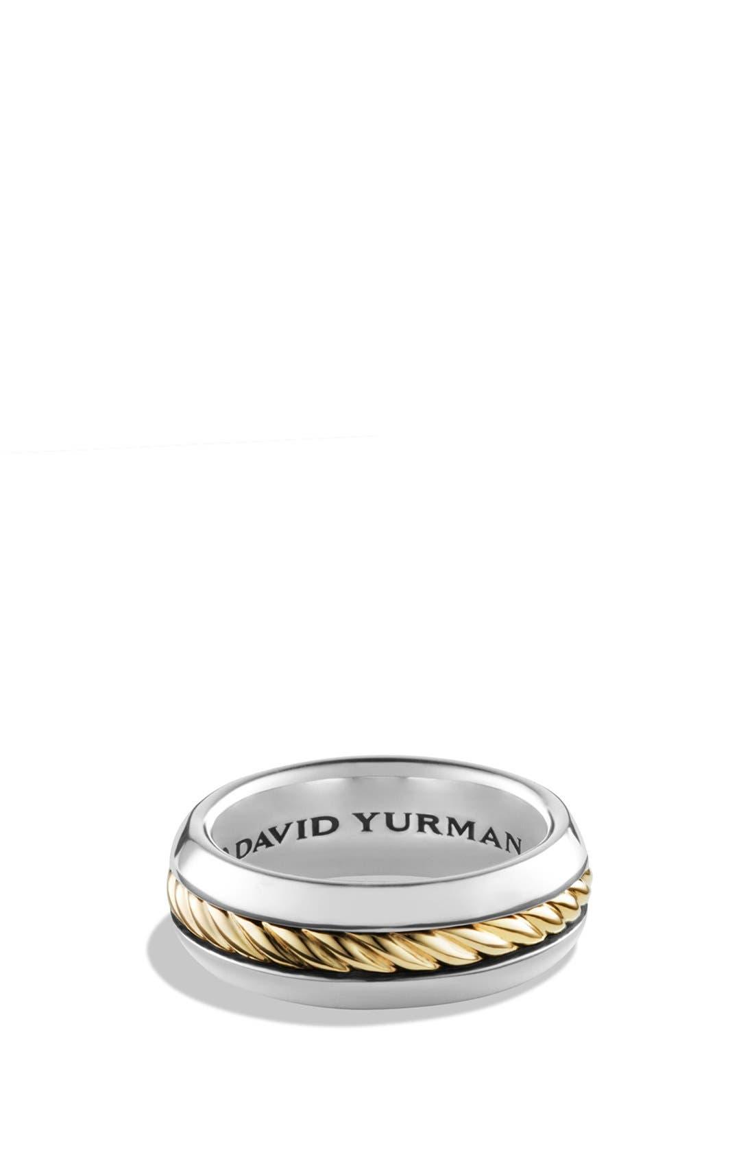 David Yurman'Cable Classics' Band Ring with 18K Gold