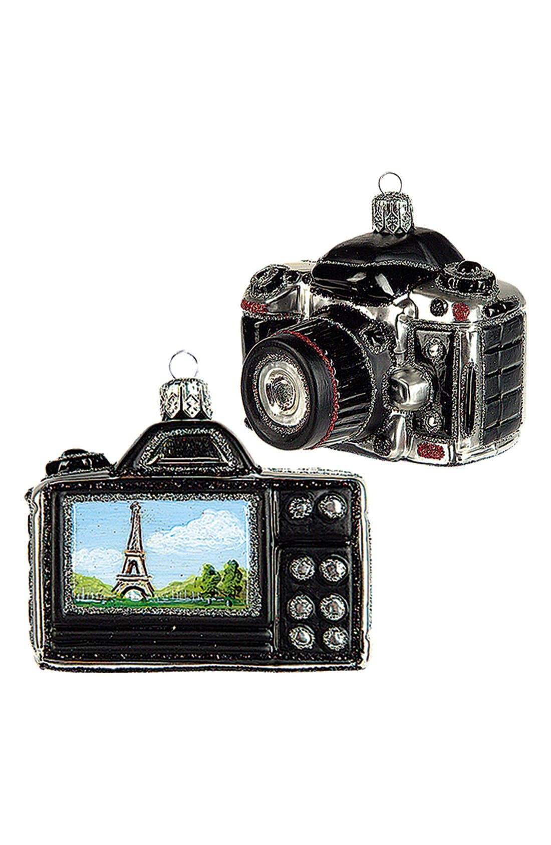Alternate Image 1 Selected - Nordstrom at Home 'Travel Camera - Paris' Glass Ornament
