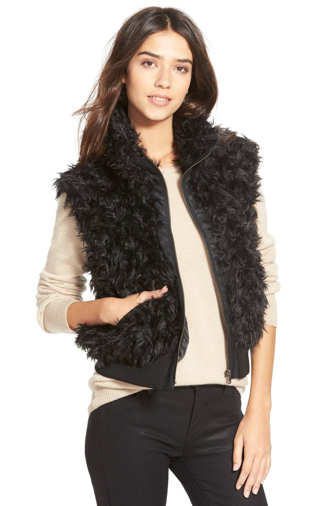 Alternate Image 1 Selected - Dena Products Faux Chinchilla Vest