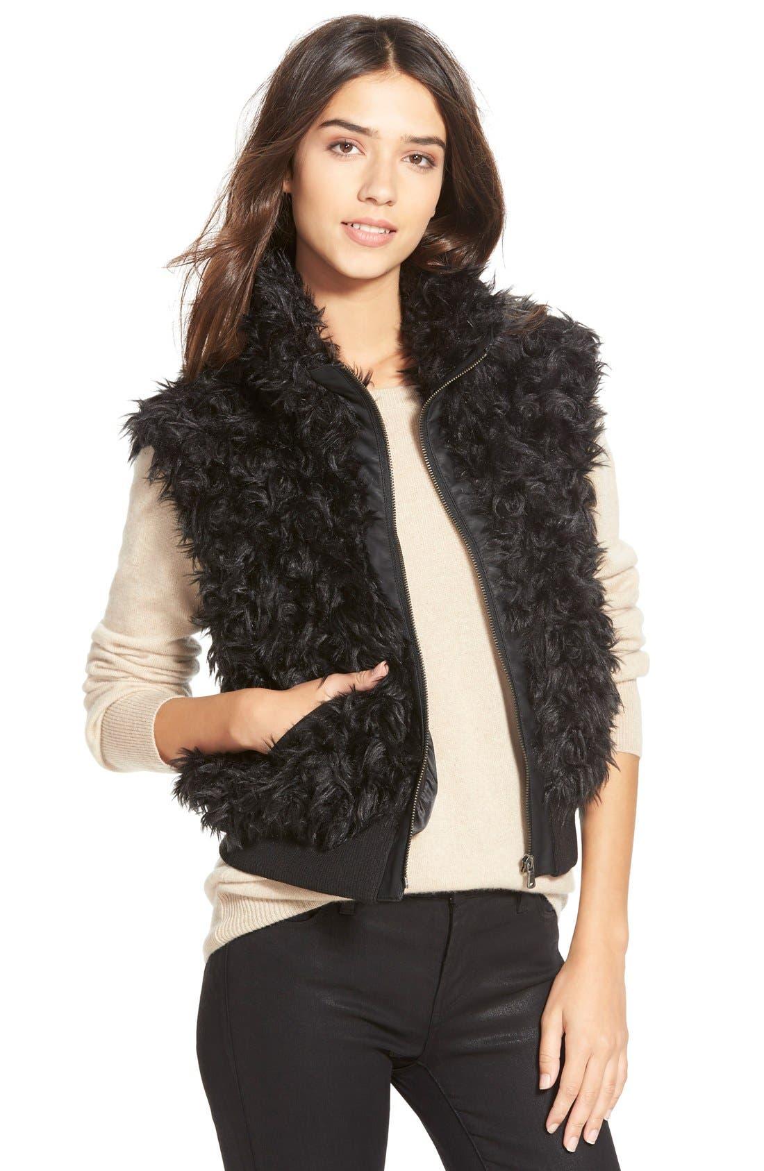 Main Image - Dena Products Faux Chinchilla Vest