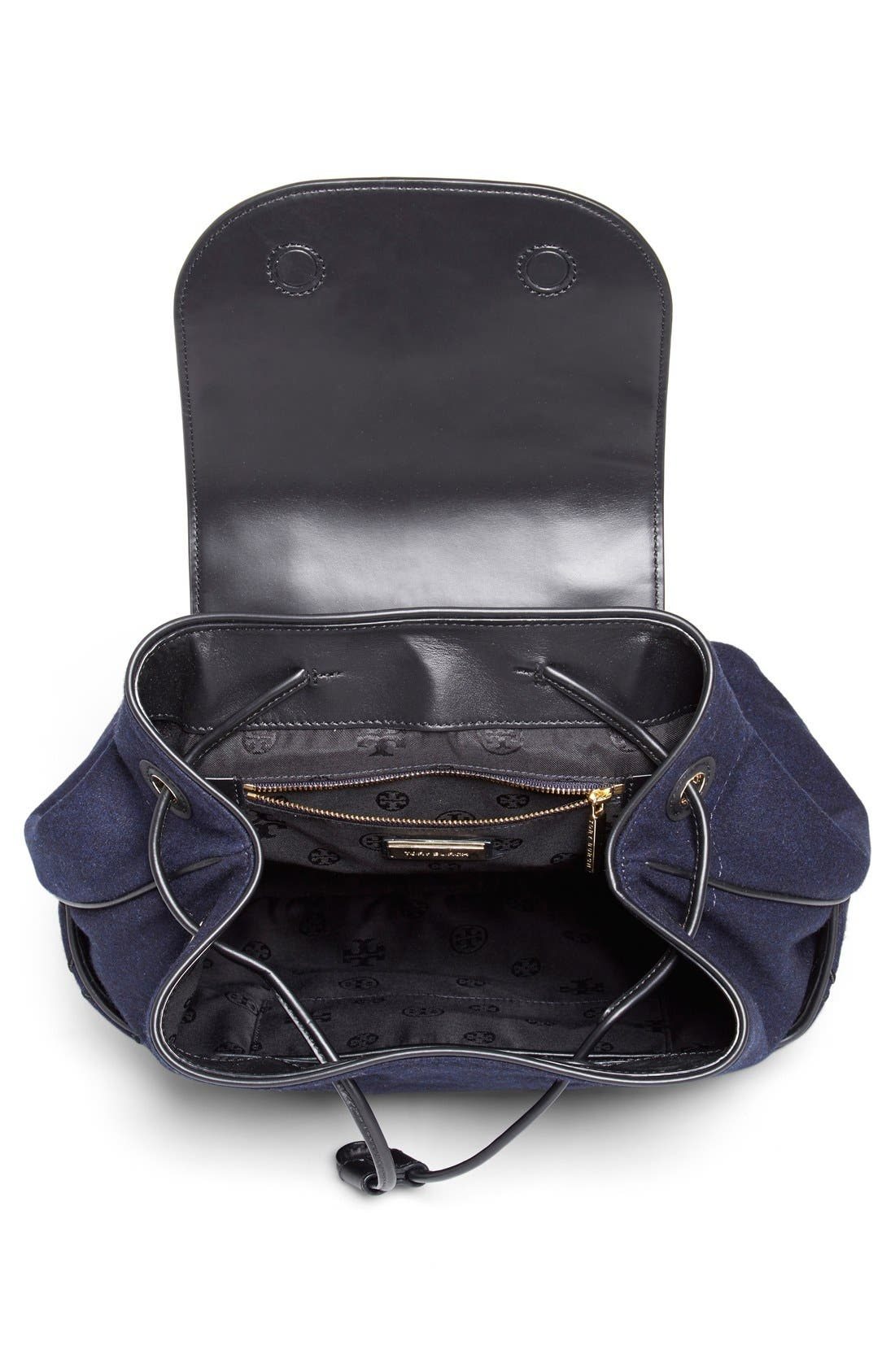 Alternate Image 4  - Tory Burch 'Marion' QuiltedFlannel Backpack