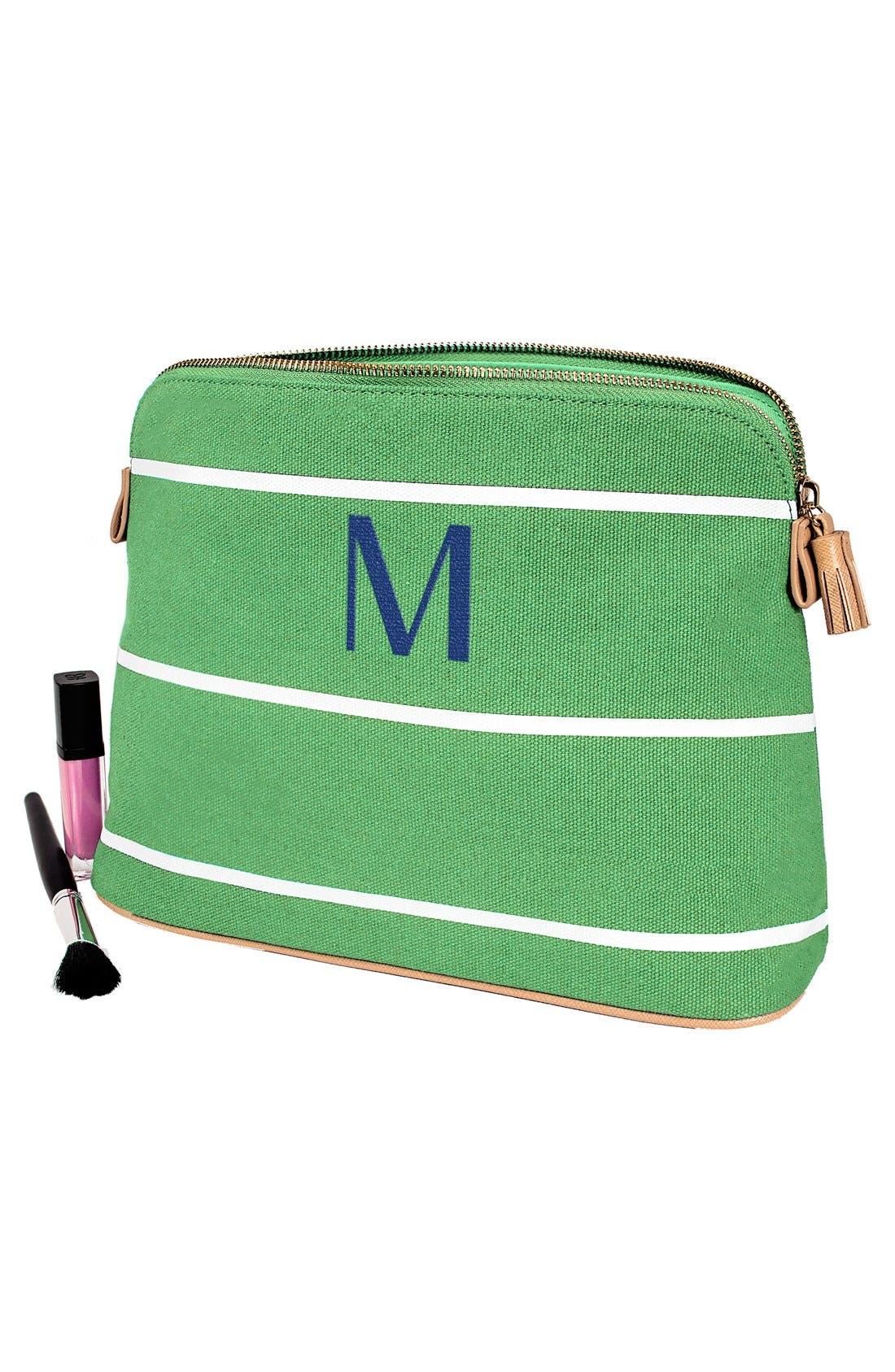 Alternate Image 2  - Cathy's Concepts Monogram Cosmetics Case