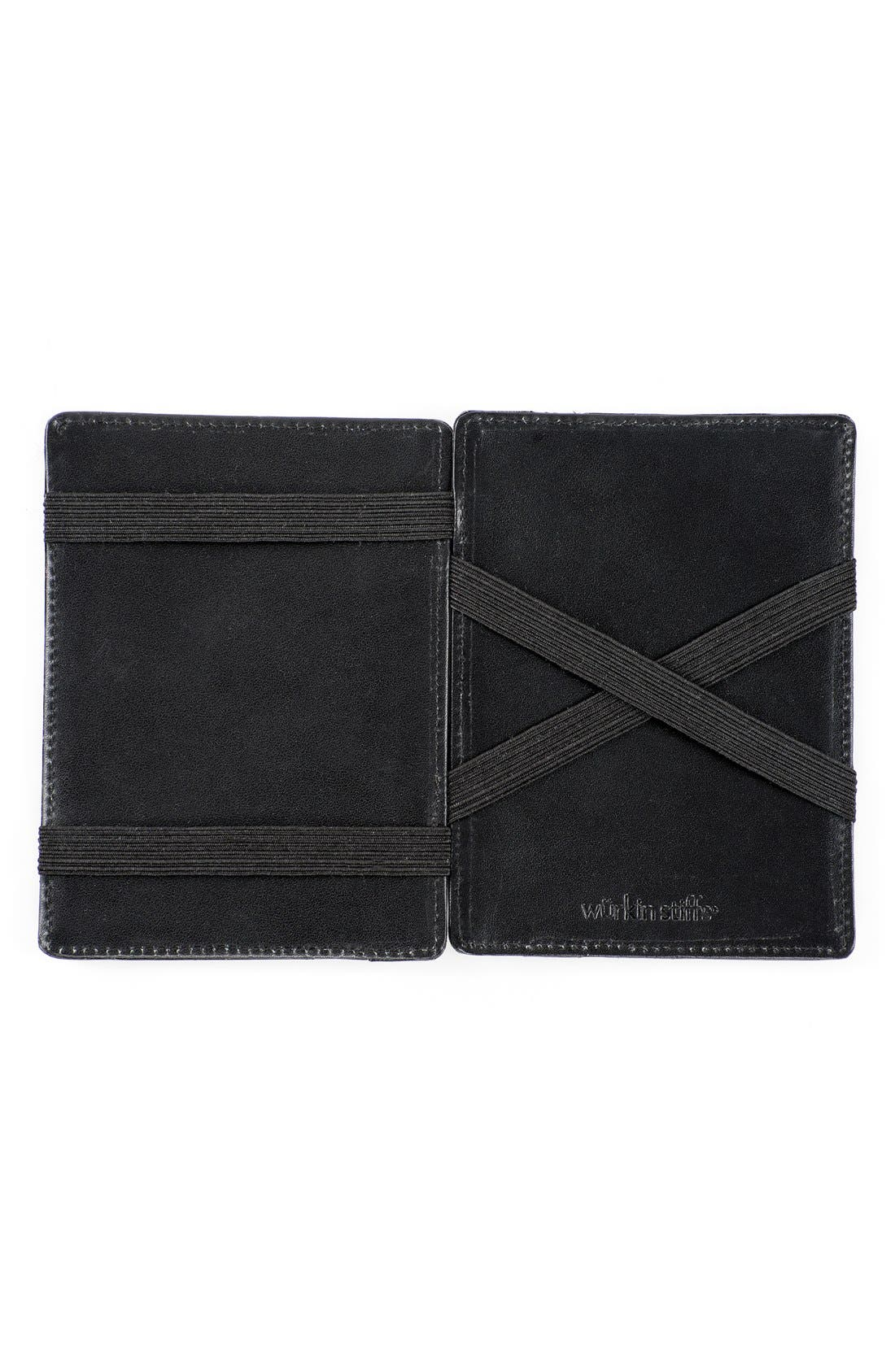 Würkin Stiffs Leather RFID Wallet,                             Alternate thumbnail 2, color,                             Black