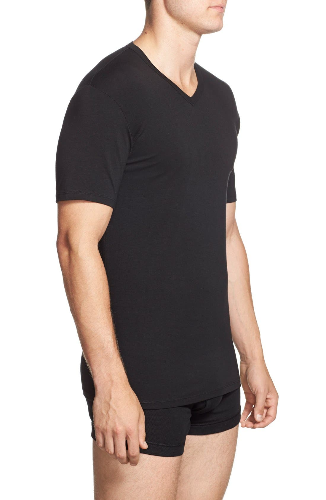 Alternate Image 3  - Calvin Klein 2-Pack Stretch Cotton T-Shirt