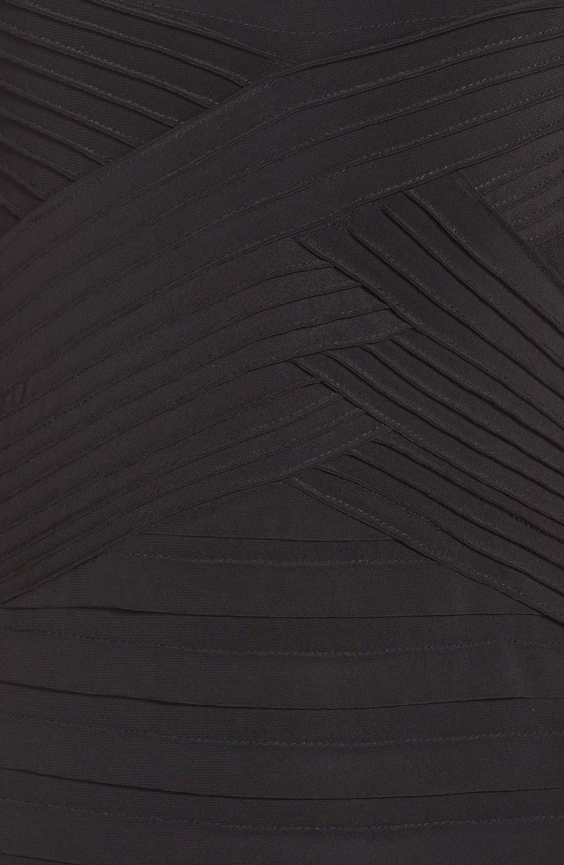 Alternate Image 6  - Adrianna PapellIllusion Pleated Jersey Shift Dress