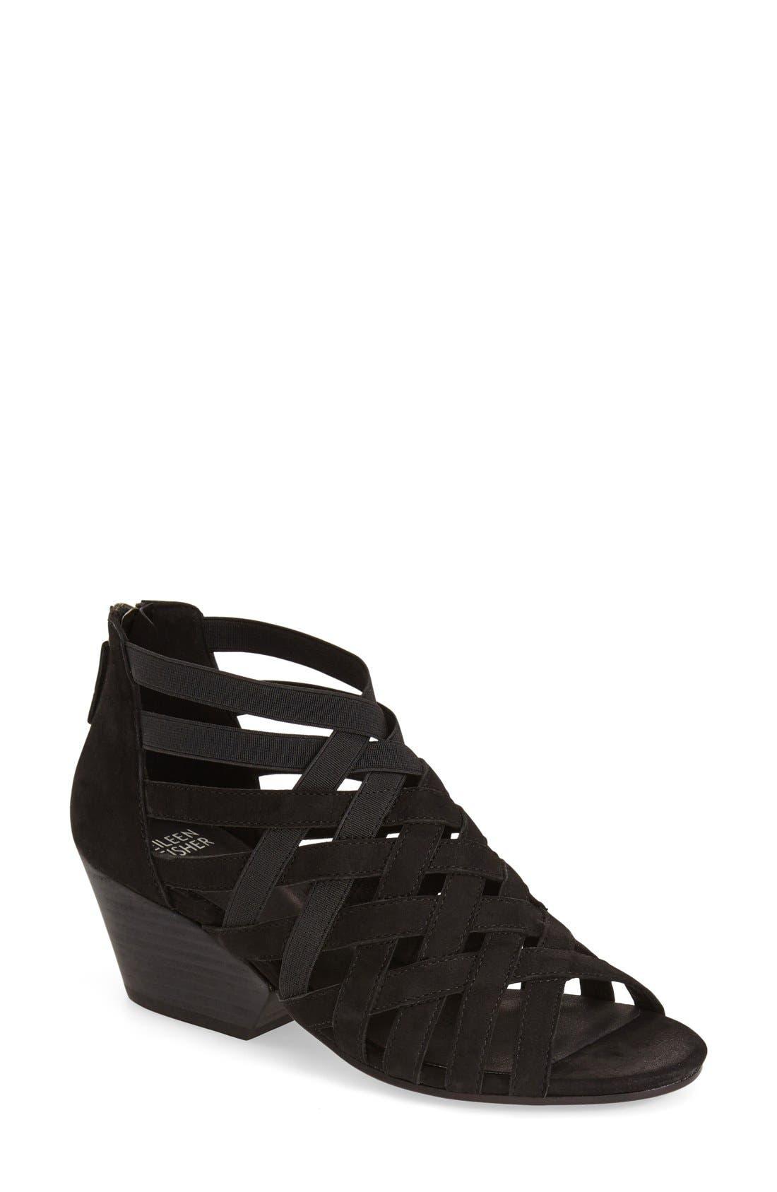 Oodle Sandal,                         Main,                         color, Black