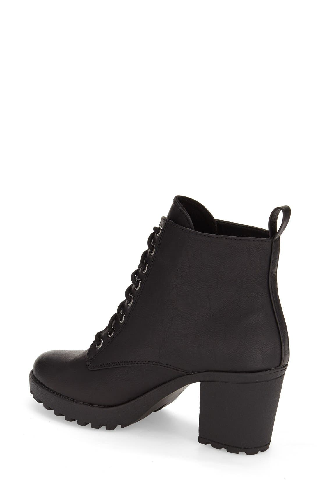 Alternate Image 2  - MIA 'Kat' Lace-Up Lug Bootie (Women)
