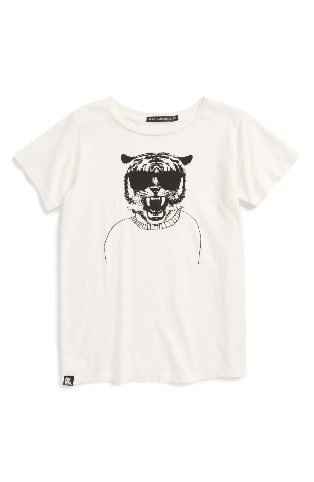 Alternate Image 1 Selected - Mini &Maximus'I Bite' Graphic T-Shirt(Toddler Boys, Little Boys & Big Boys)