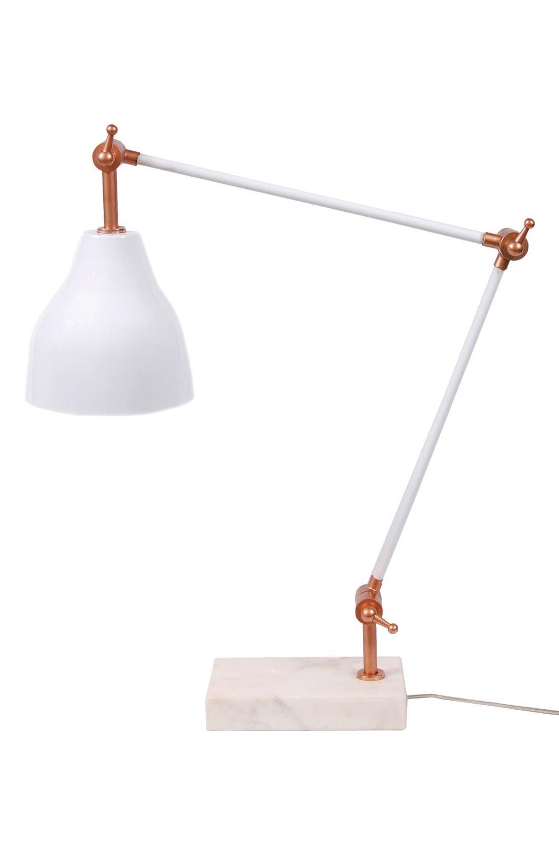 'Luna' Table Lamp,                         Main,                         color, White/ Copper