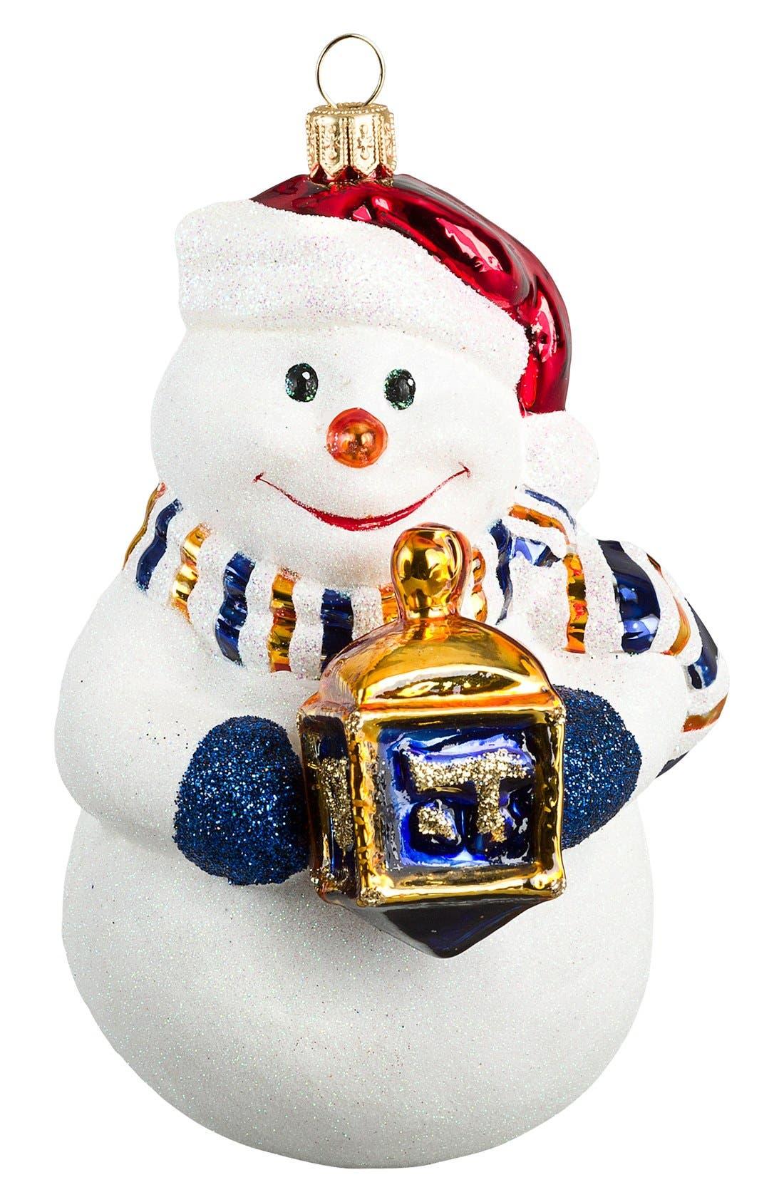 Snowman Decoration,                             Main thumbnail 1, color,                             White Multi