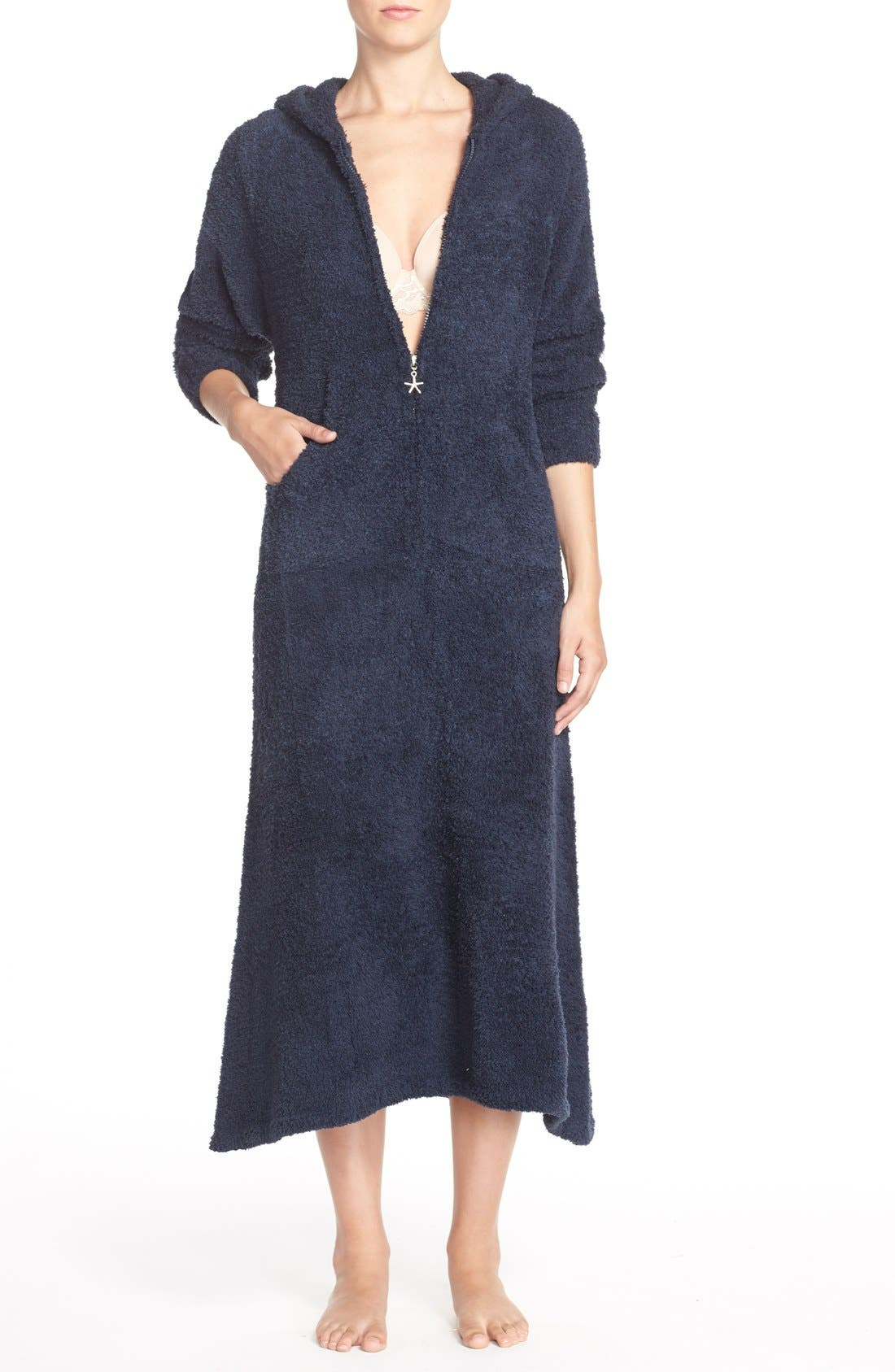 Main Image - Barefoot Dreams® CozyChic® Hooded Zip Robe