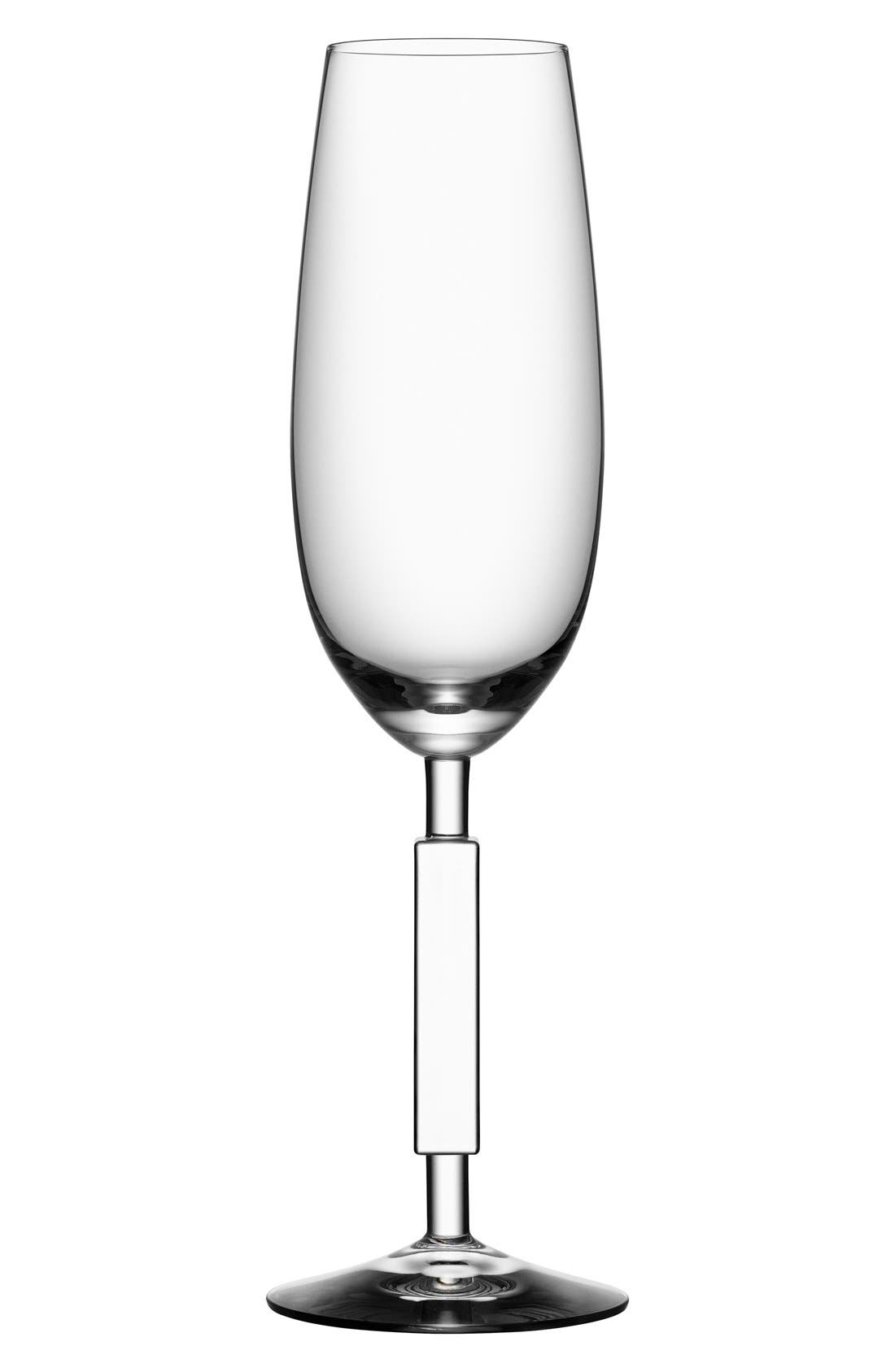 'Unique' Champagne Flute,                         Main,                         color, Clear