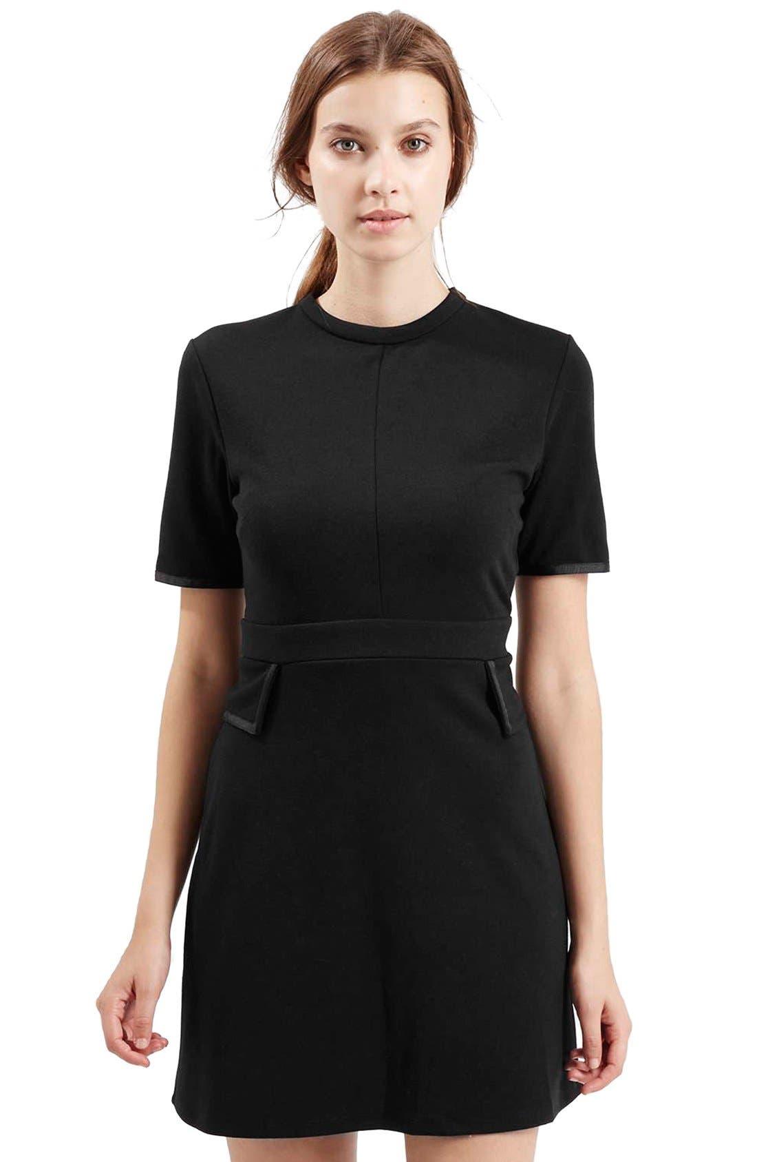 Main Image - TopshopHigh Neck A-Line Dress