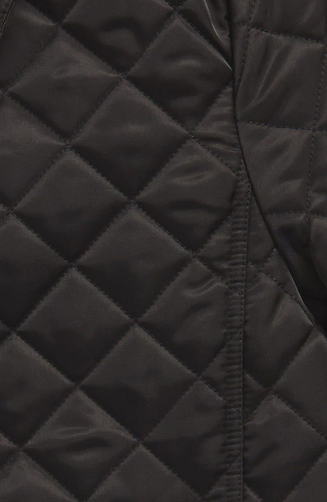 'MiniAshurst'Quilted Jacket,                             Alternate thumbnail 2, color,                             Black