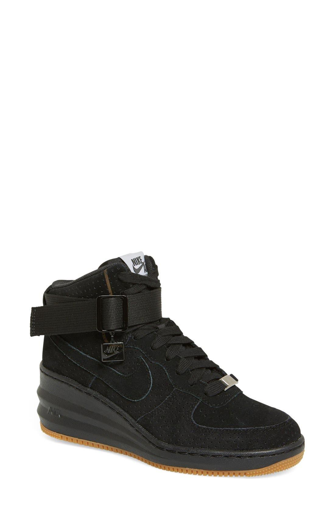 Alternate Image 1 Selected - Nike 'Lunar Force Sky Hi' Wedge Sneaker (Women)