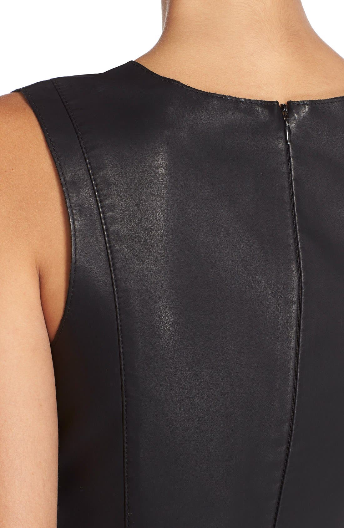 Alternate Image 6  - BB Dakota FauxLeather Fit & Flare Dress