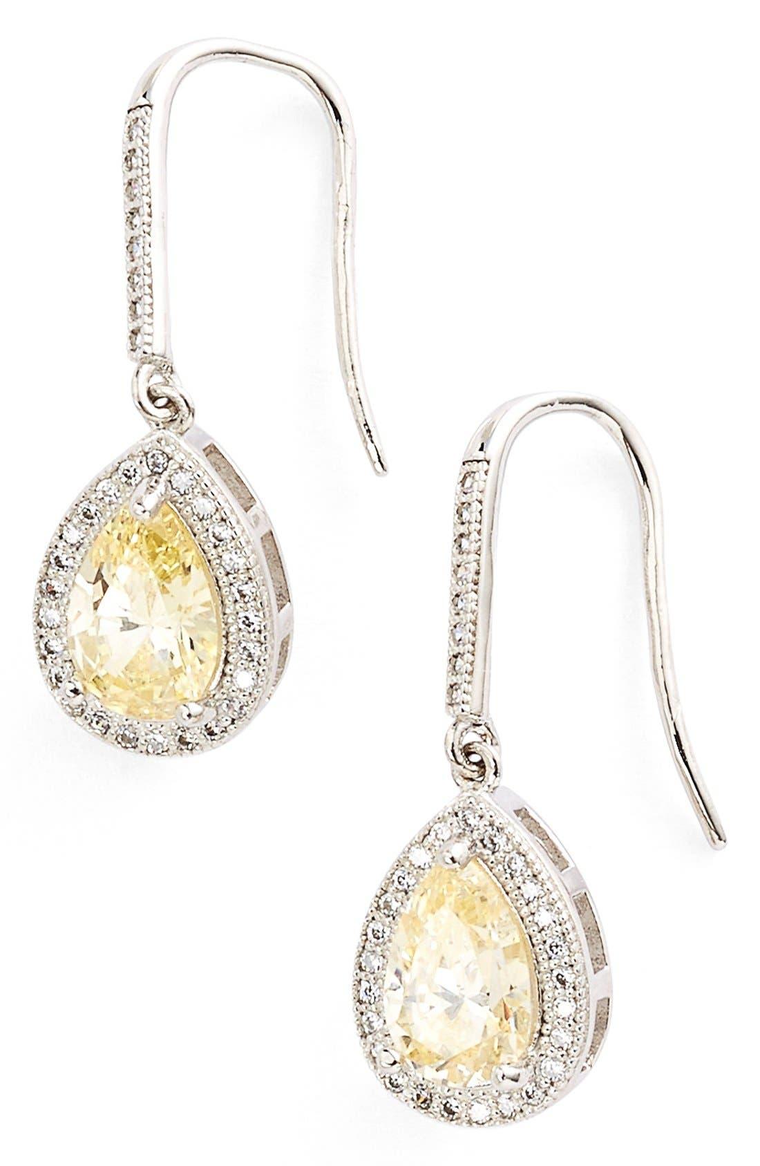 Lafonn'Lassaire' Canary Drop Earrings