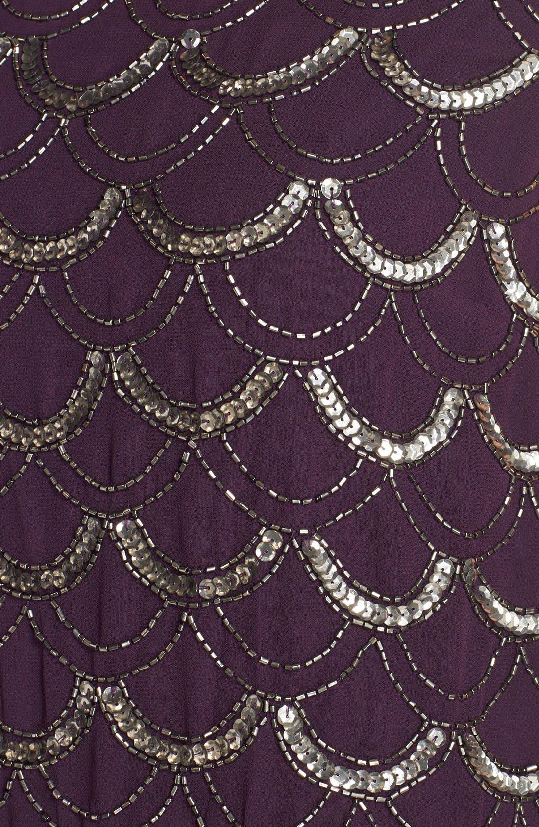 Alternate Image 6  - Adrianna Papell Beaded Chiffon Dress (Regular & Petite)