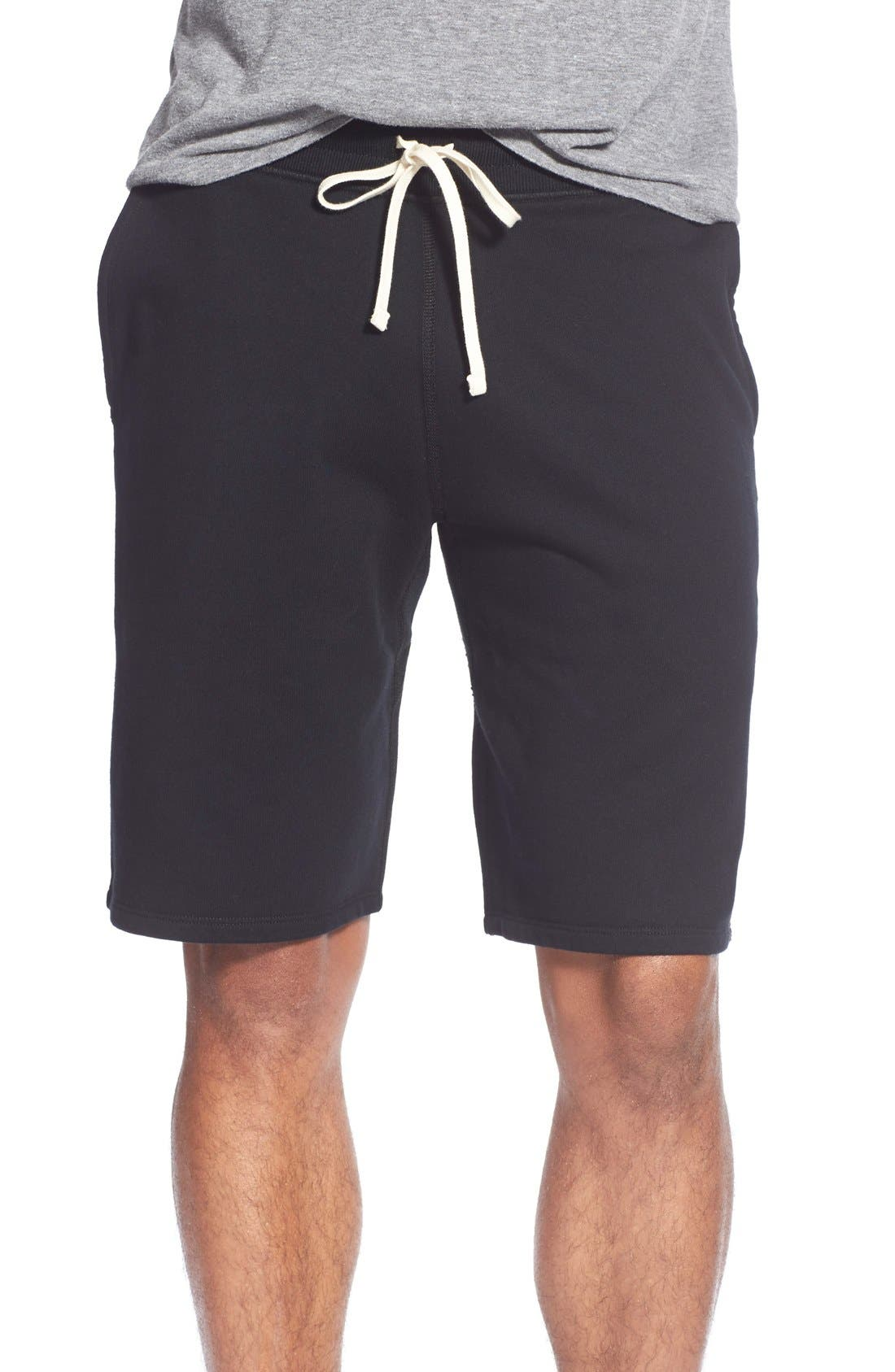 Terry Cotton Sweat Shorts,                         Main,                         color, Black