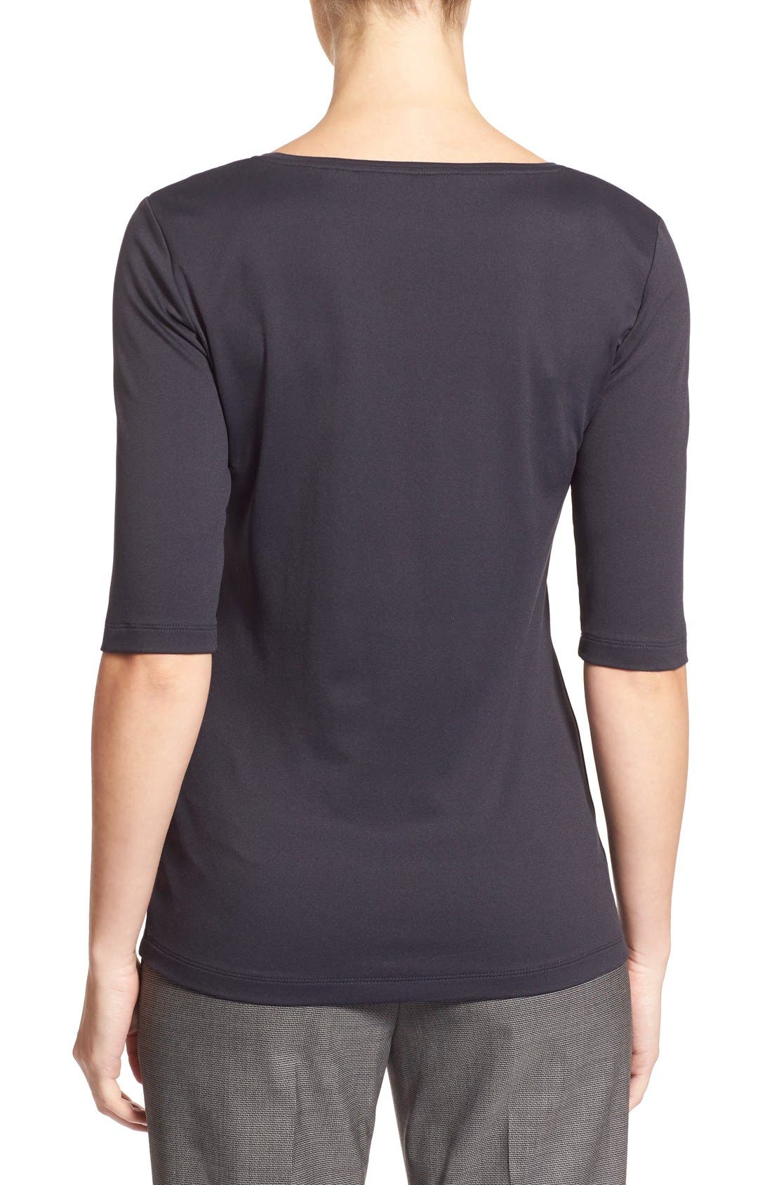 Alternate Image 2  - BOSS Scoop Neck Stretch Jersey Top