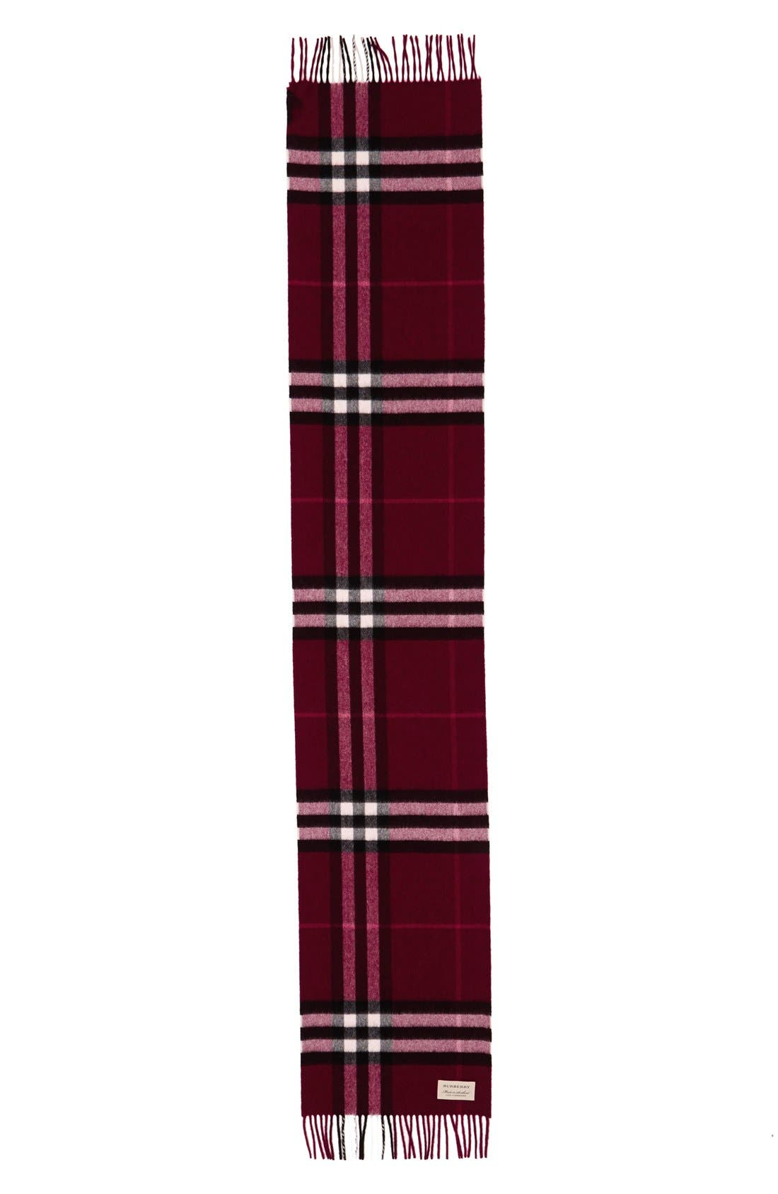Alternate Image 1 Selected - Burberry Giant Check Cashmere Scarf