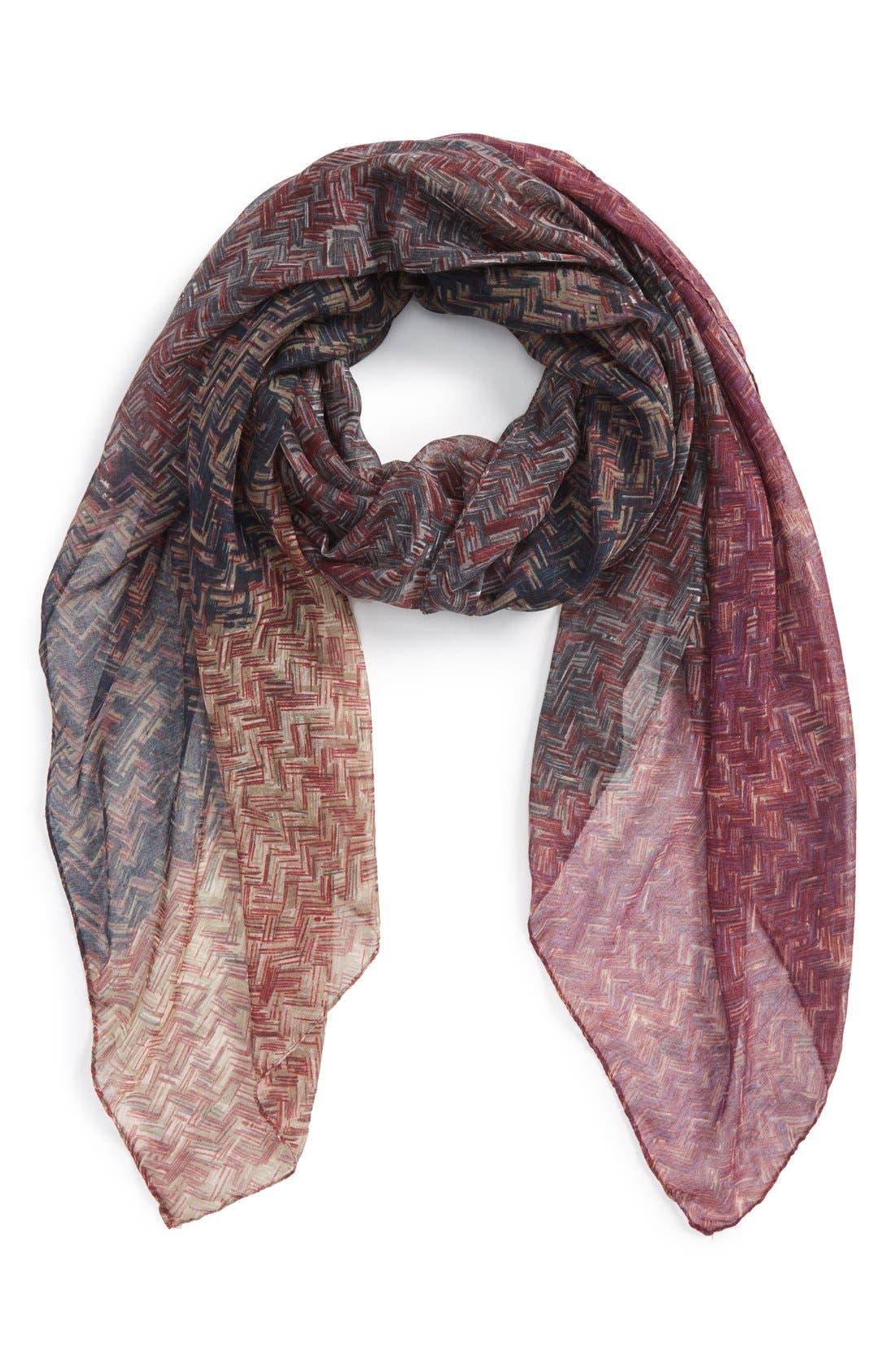 Alternate Image 1 Selected - TashaOmbré Woven PrintScarf