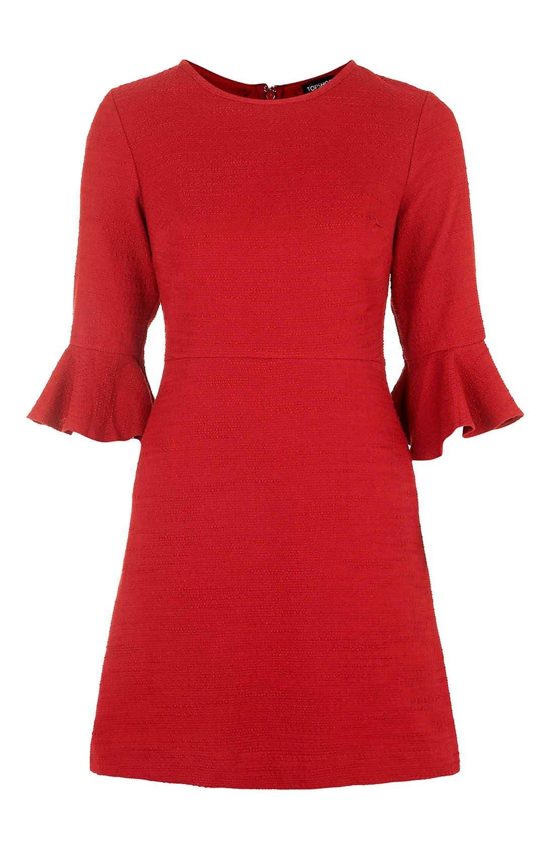 Alternate Image 3  - Topshop Fluted Sleeve Dress (Regular & Petite)