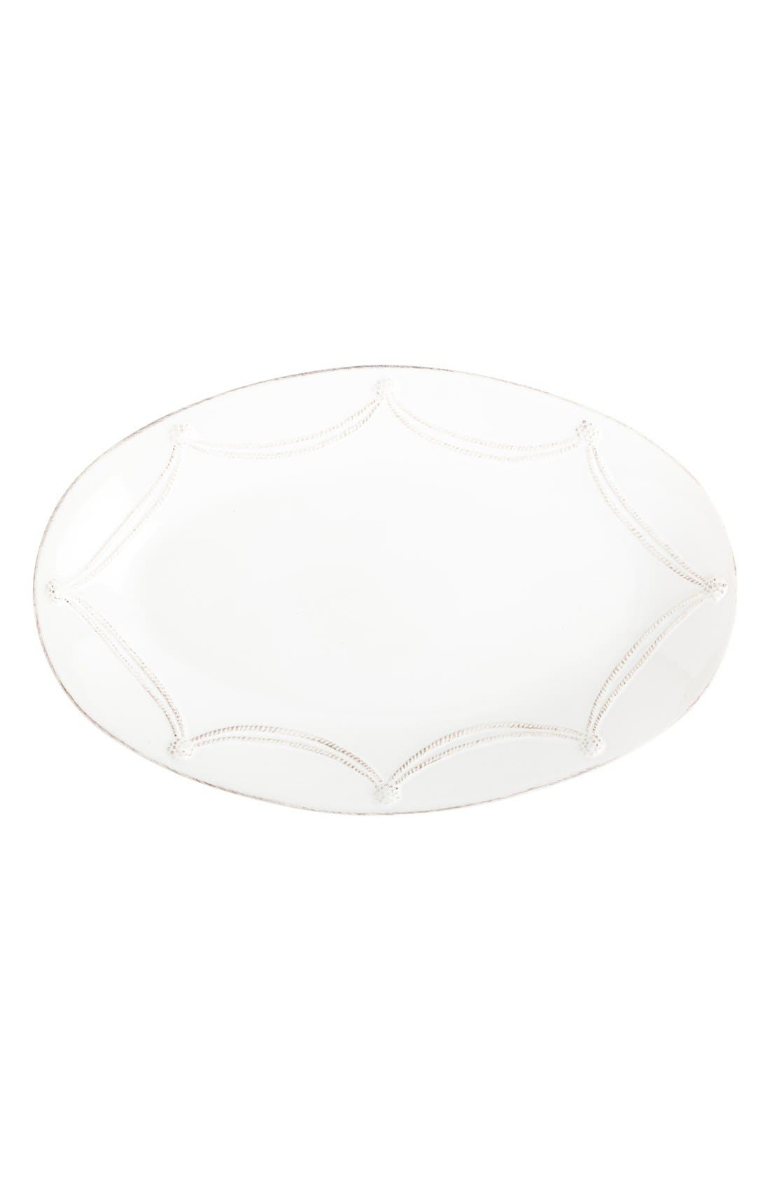 'Berry and Thread' Oval Platter,                             Main thumbnail 1, color,                             Whitewash