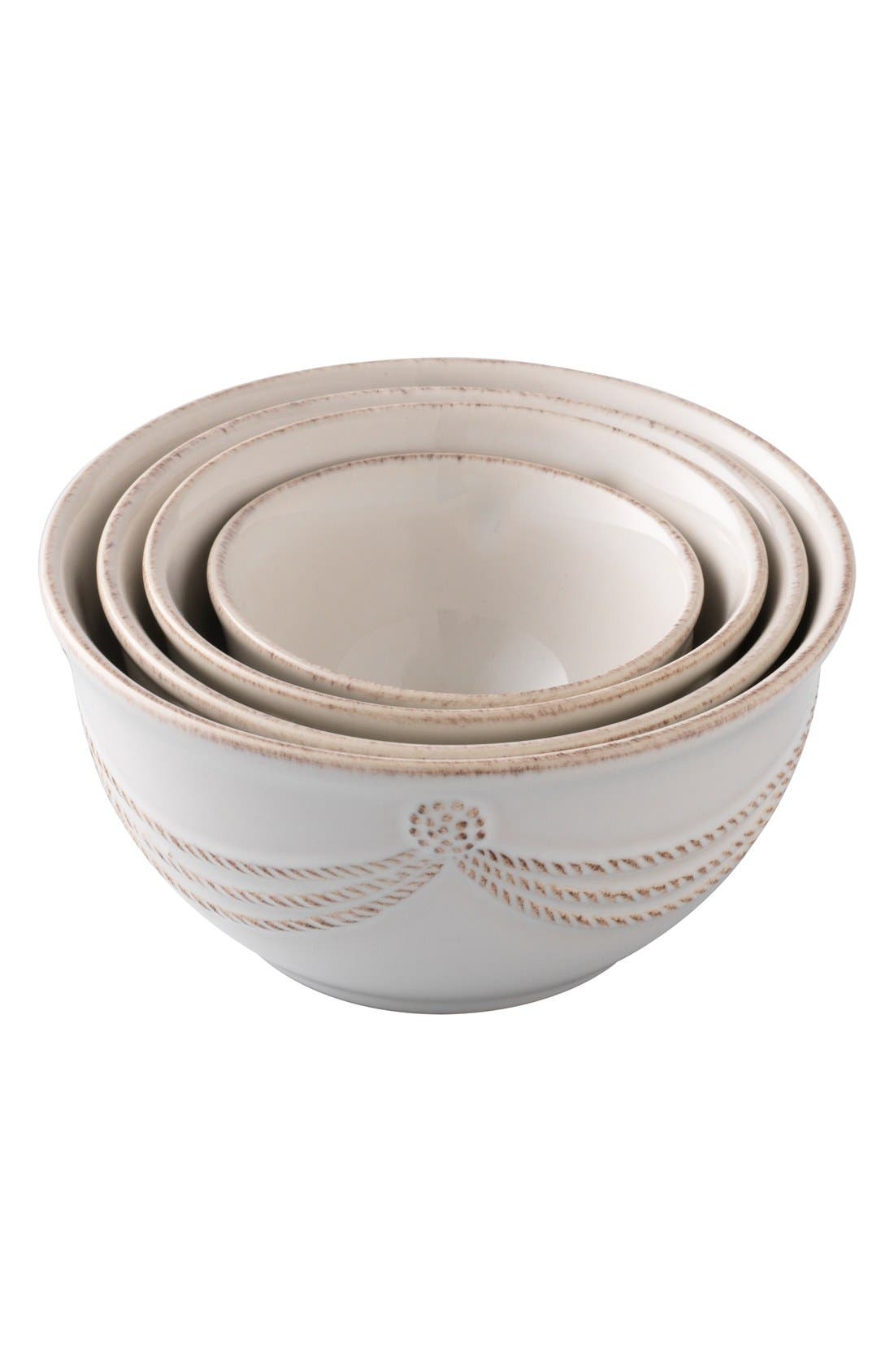 'Berry and Thread' Nesting Prep Bowls,                         Main,                         color, Whitewash