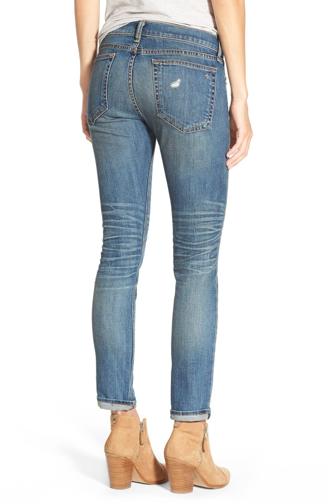 Alternate Image 2  - rag & bone/JEAN 'The Dre' Slim Fit Boyfriend Jeans (Ada)