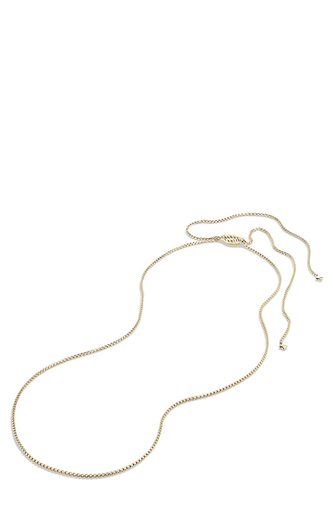 Box Chain Necklace in 18K Gold,                             Alternate thumbnail 2, color,                             Yellow Gold
