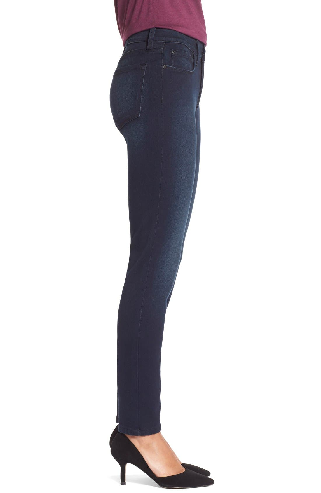 Alternate Image 4  - NYDJ Alina Colored Stretch Skinny Jeans (Regular & Petite)