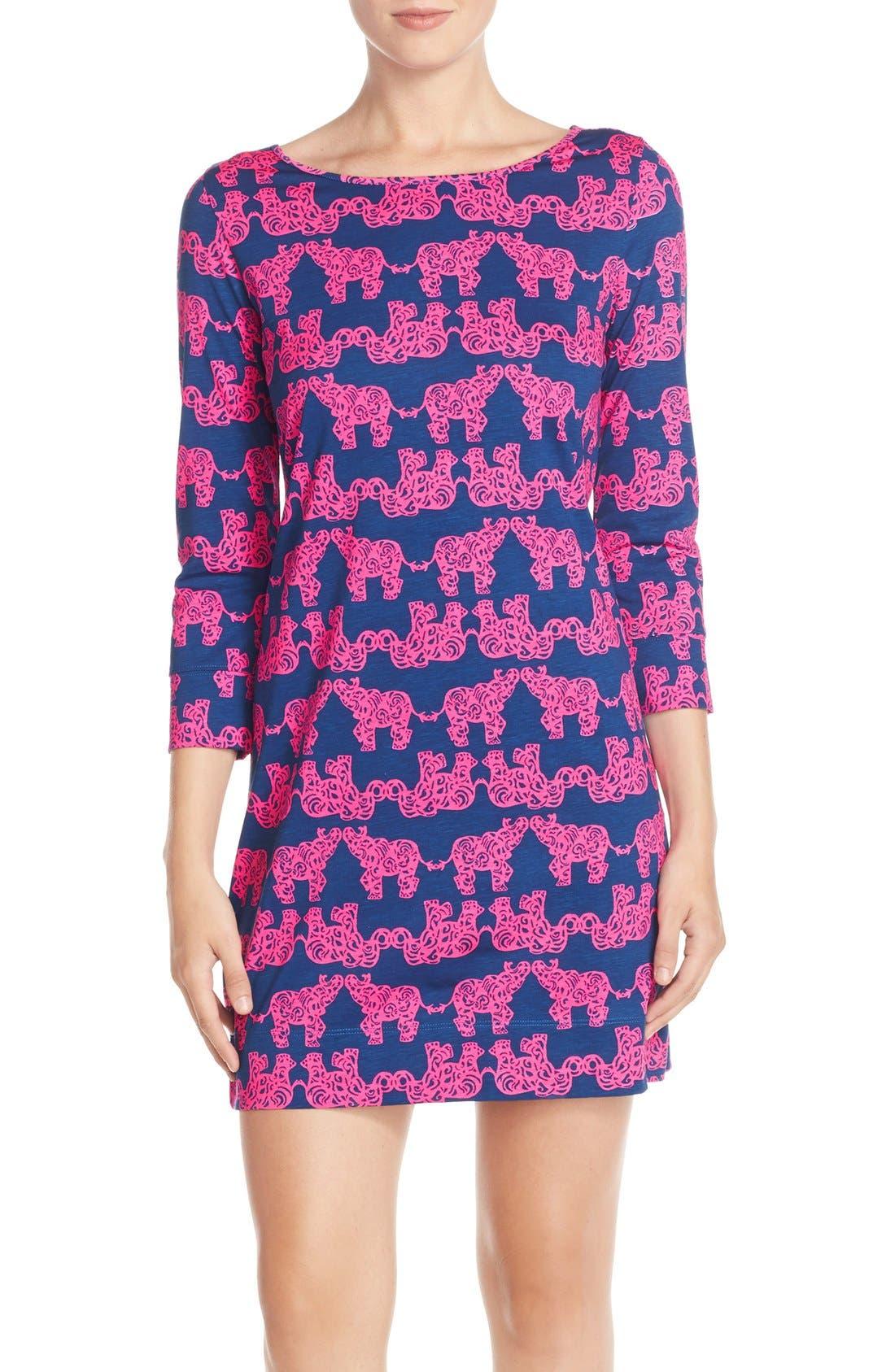 Alternate Image 1 Selected - Lilly Pulitzer® 'Marlowe' Elephant Print PimaCotton Minidress