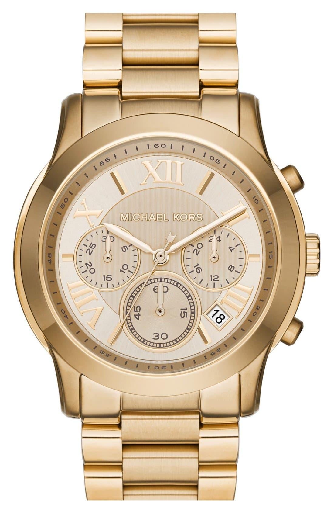 'Cooper' Chronograph Bracelet Watch,39mm,                         Main,                         color, Gold