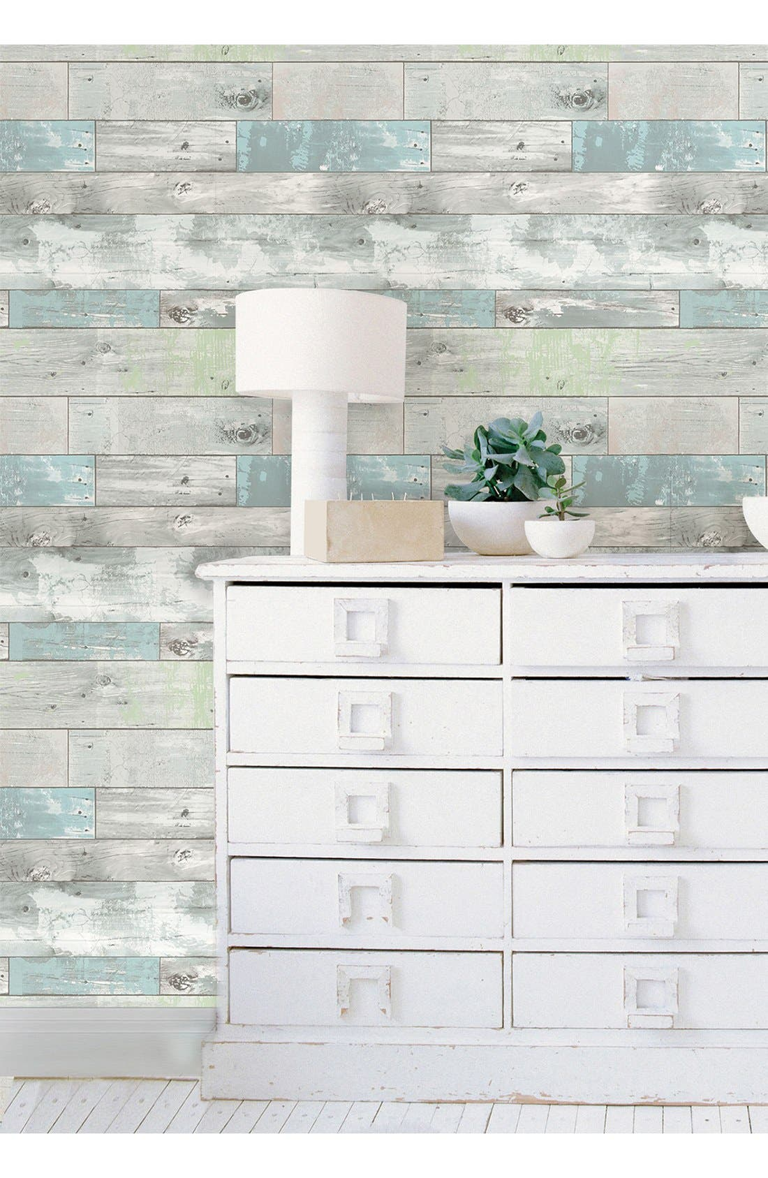 'Beachwood'  Peel & Stick Vinyl Wallpaper,                             Alternate thumbnail 6, color,                             Grey