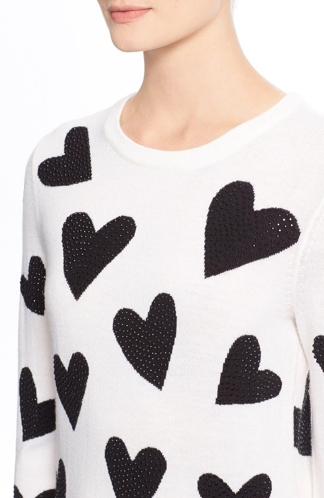 Alternate Image 4  - Alice + Olivia 'Carey' Embellished Sweater
