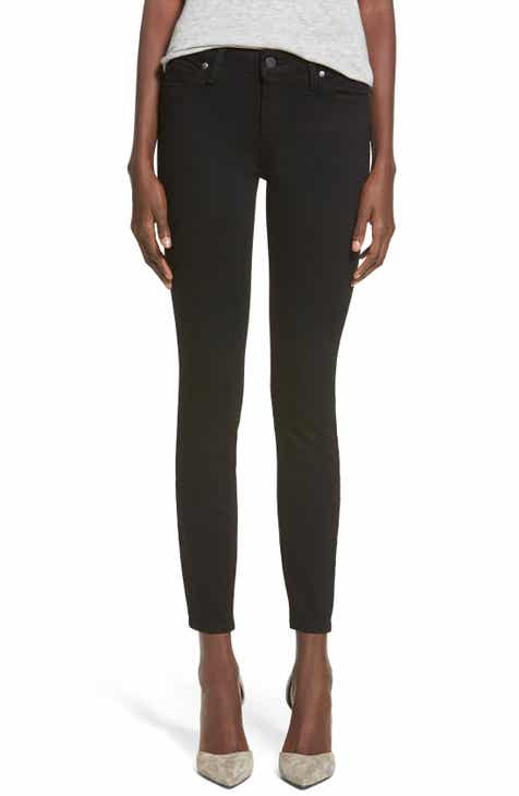 PAIGE Transcend - Verdugo Ankle Ultra Skinny Jeans (Black Shadow) by PAIGE