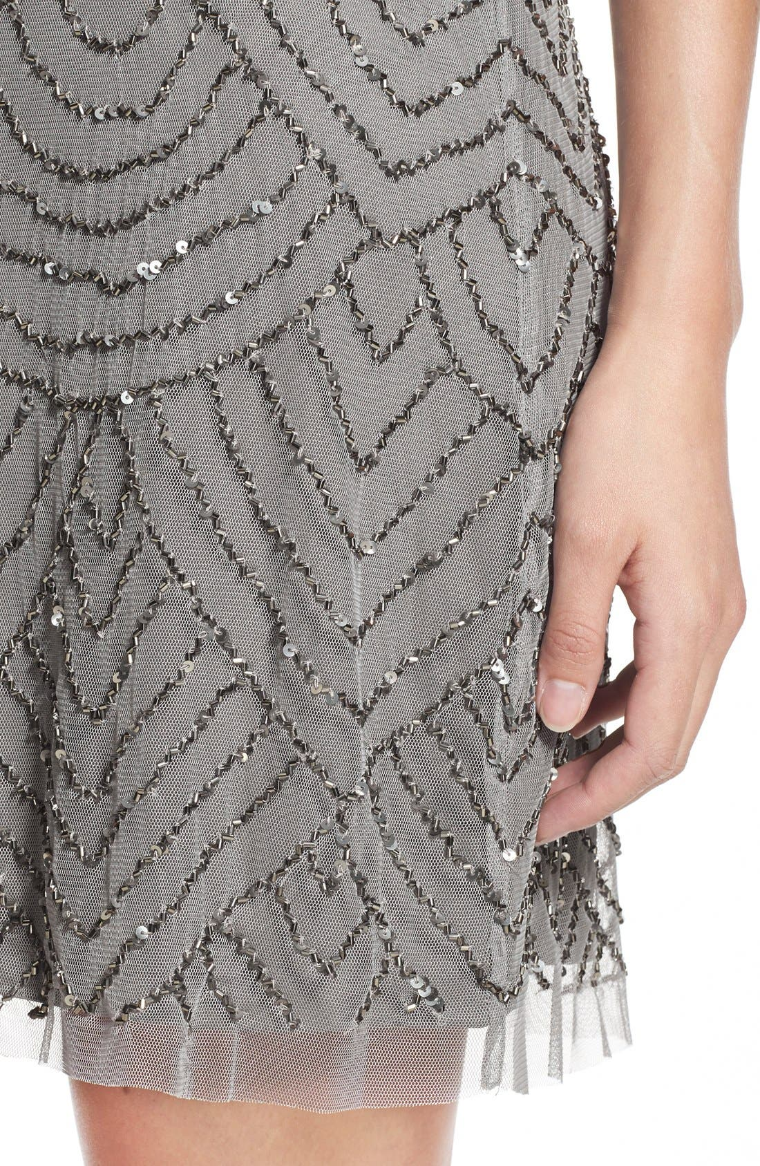 Alternate Image 4  - Adrianna Papell Sequin Mesh Blouson Dress