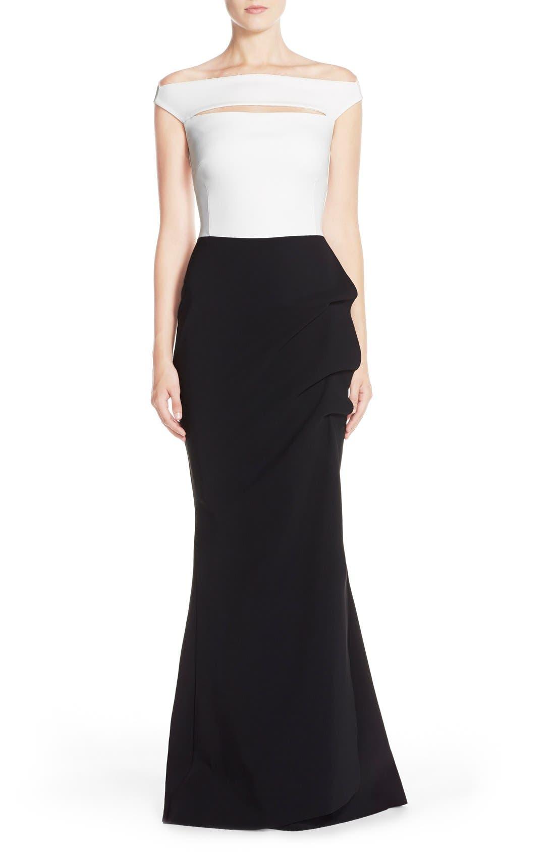 Alternate Image 1 Selected - Chiara Boni La Petite Robe 'Melania' Off the ShoulderMermaid Gown